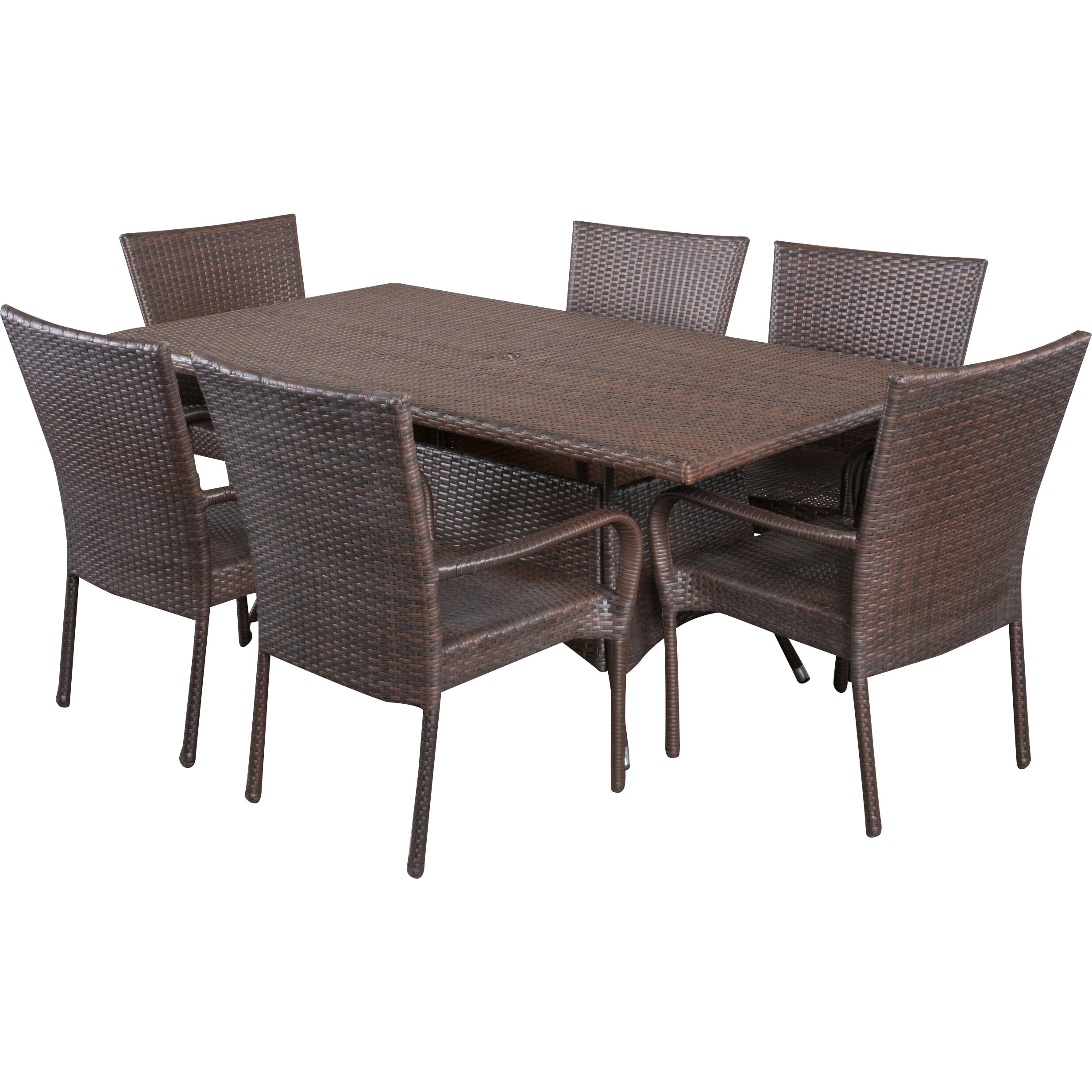 Very Impressive portraiture of Alcott Hill Fort Smith 7 Piece Dining Set & Reviews Wayfair with #6B5953 color and 2467x2467 pixels