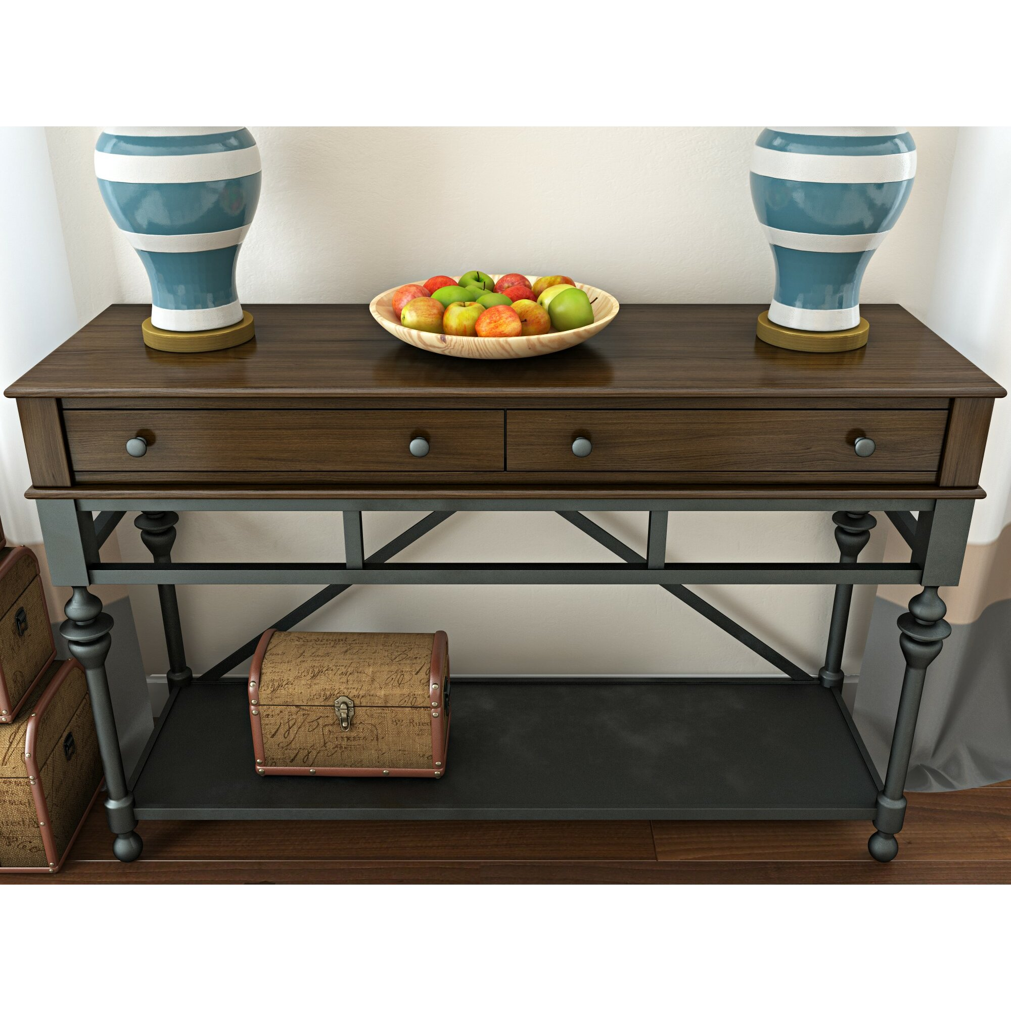 alcott hill pearse console table reviews wayfair. Black Bedroom Furniture Sets. Home Design Ideas