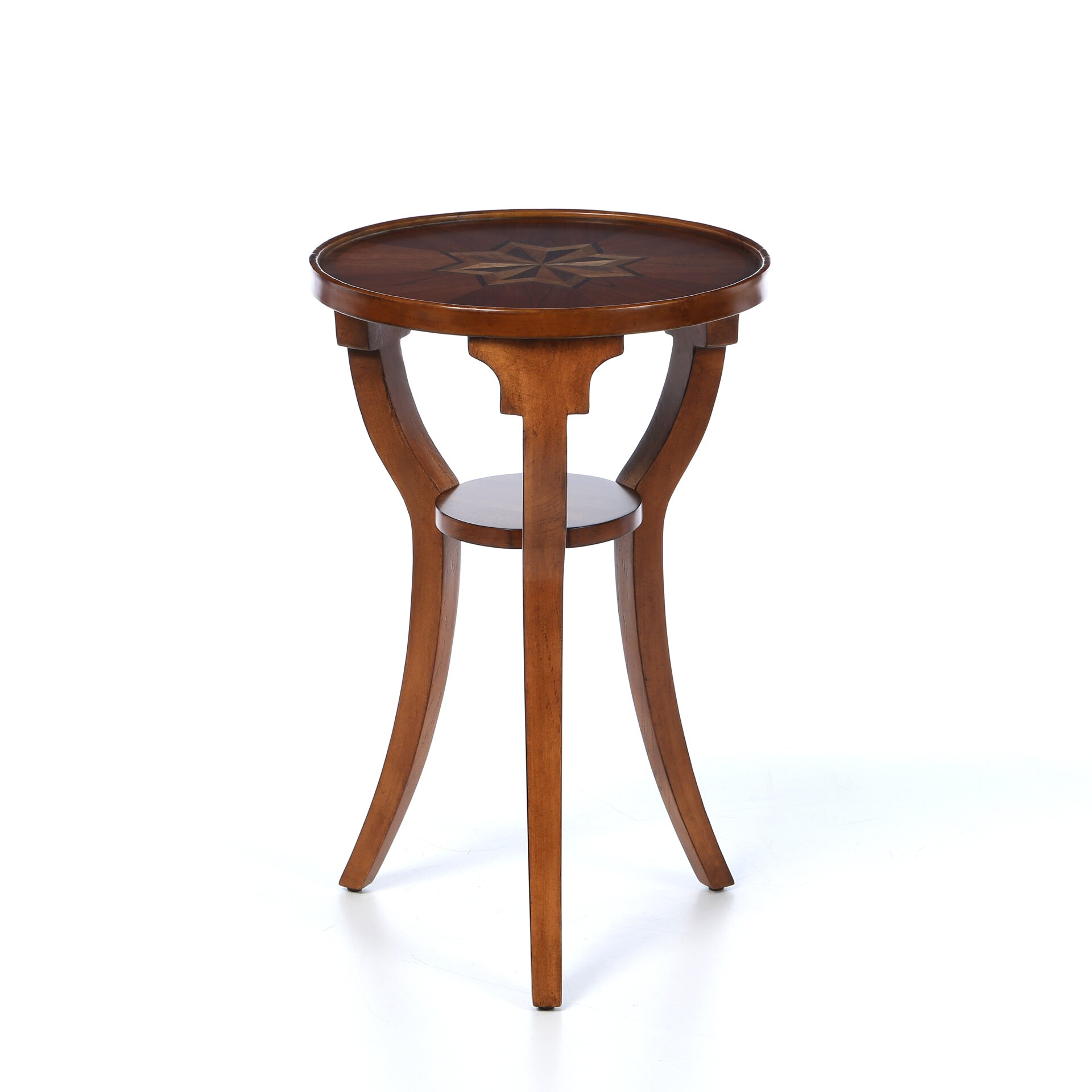 Alcott hill riley round accent table reviews wayfair for Round end tables