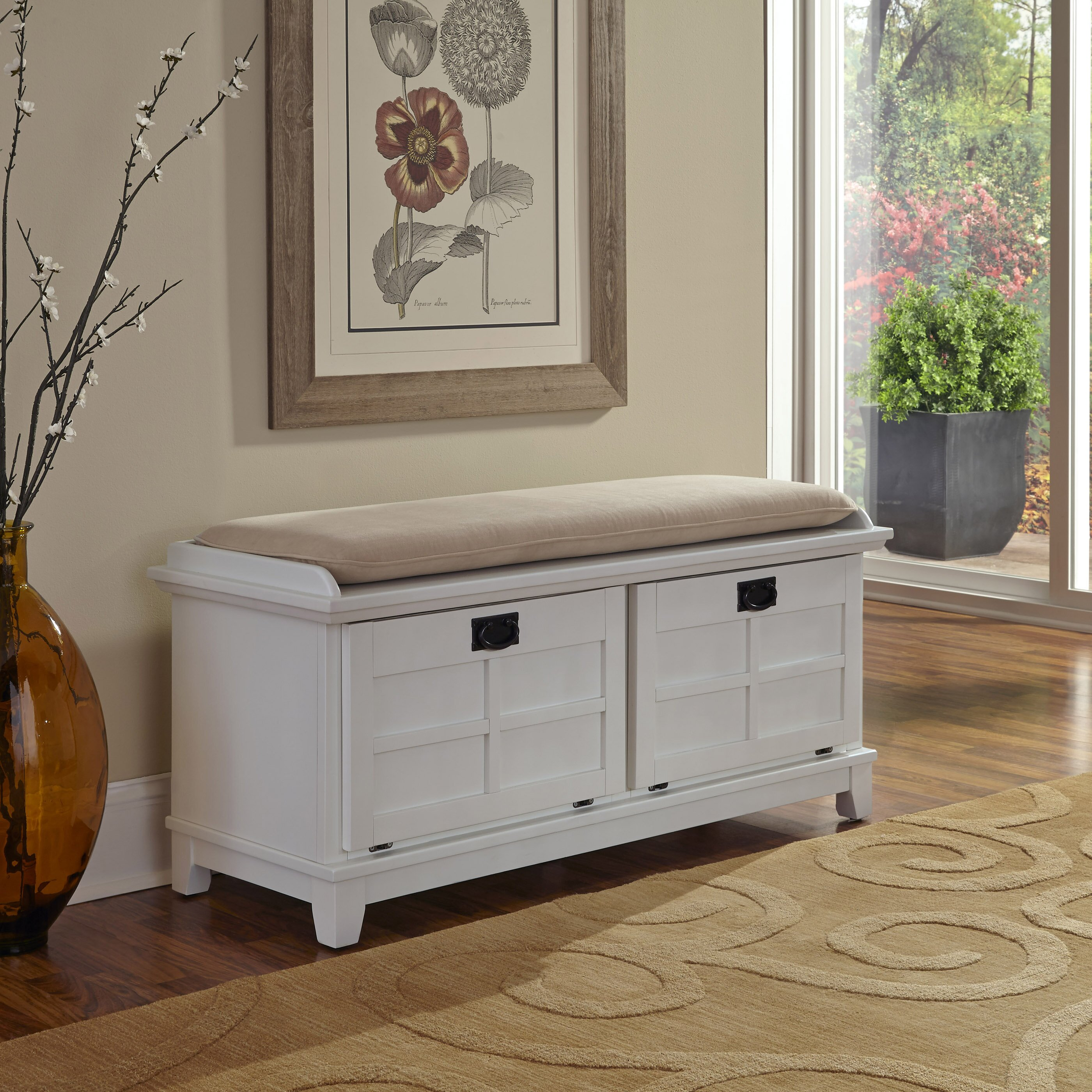Foyer Mudroom Review : Alcott hill lakeview wood storage entryway bench reviews