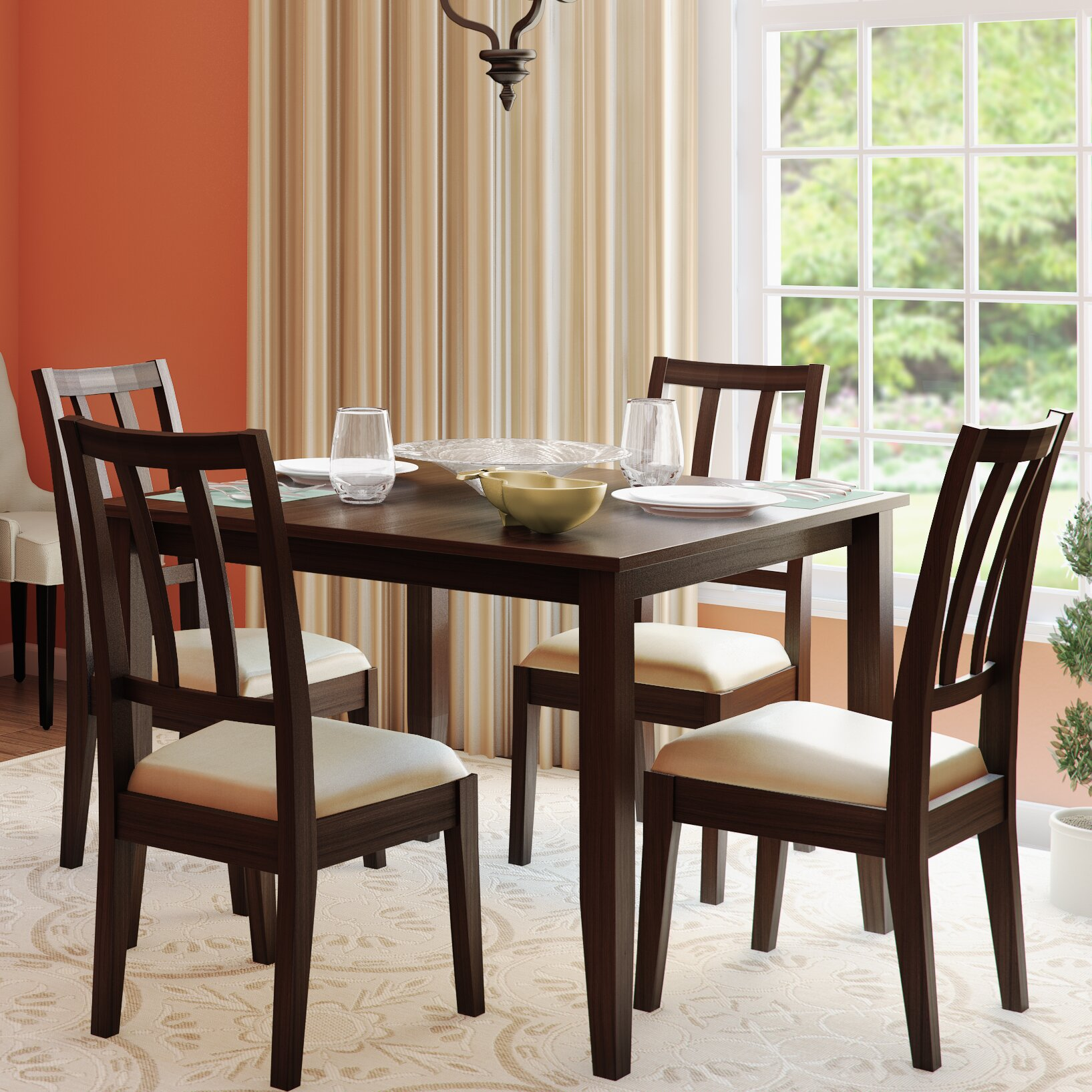 Alcott hill primrose road 5 piece dining set reviews for Kitchen dining room furniture