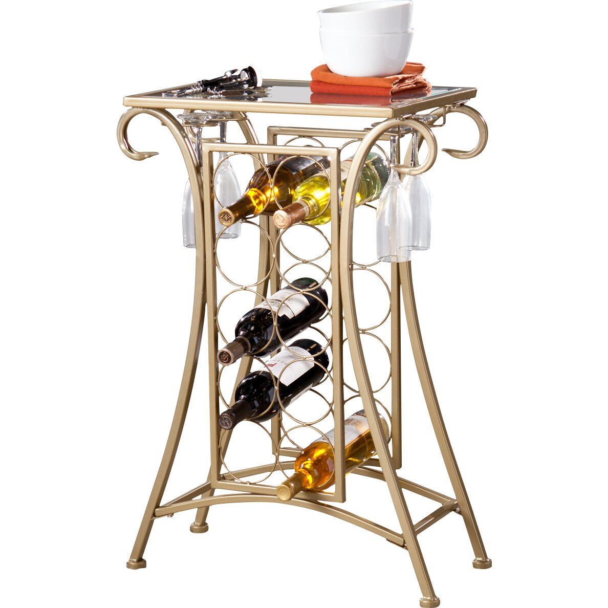 Alcott hill herbert 10 bottle floor wine rack reviews for Floor wine rack