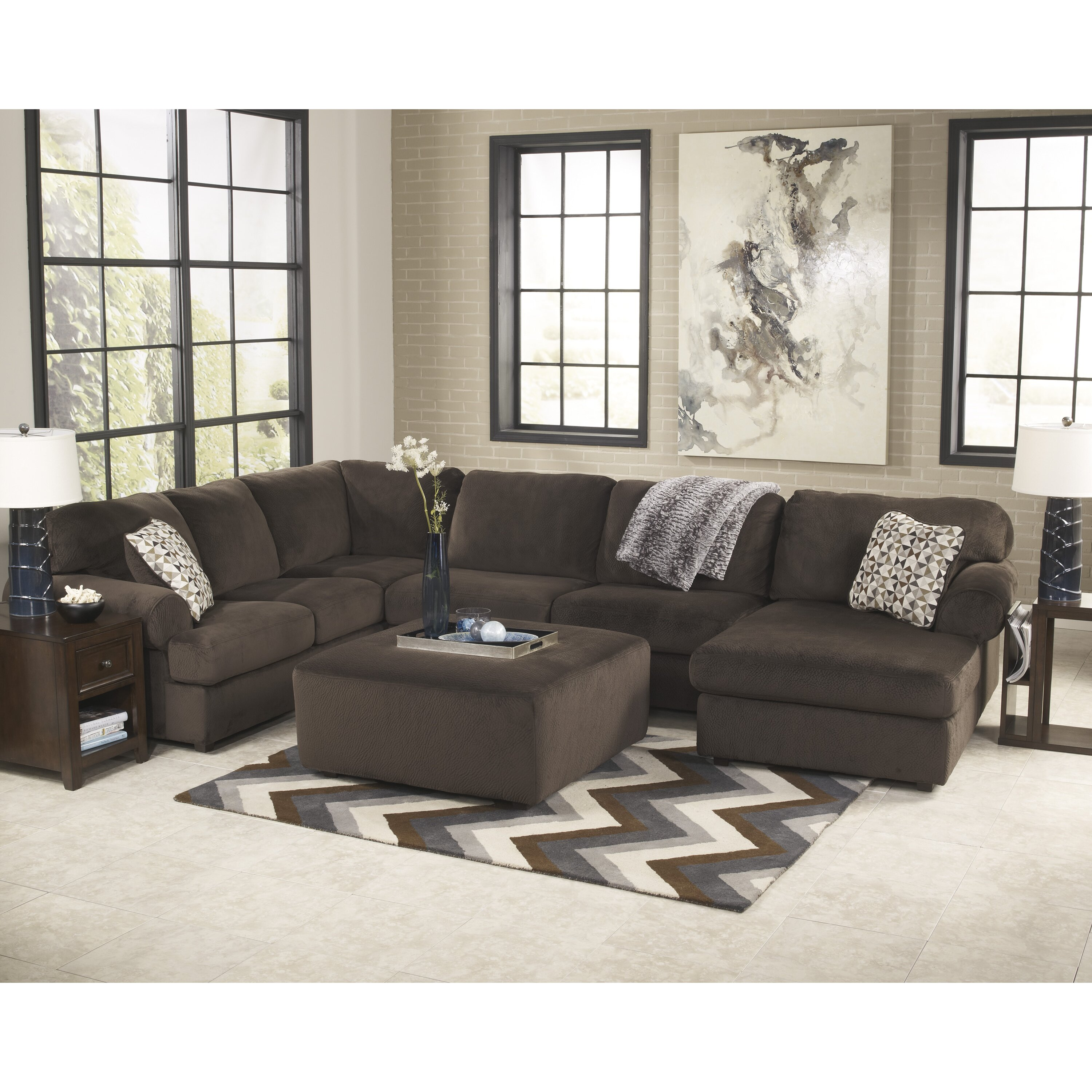 Charlton Home Brewster Sectional & Reviews