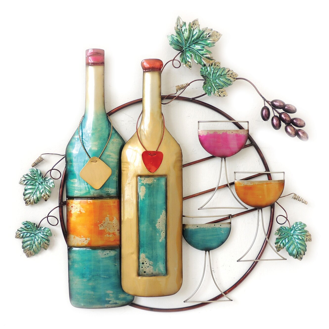 Wall Decor Wine Glasses : Charlton home wine bottles and glasses wall decor