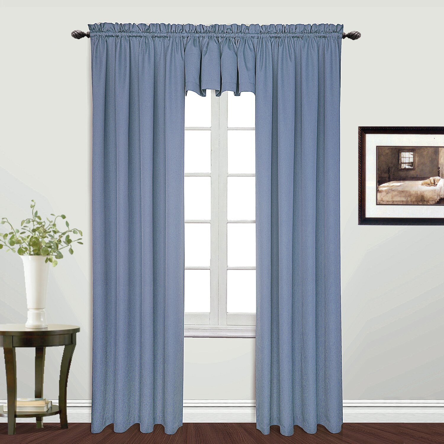 charlton home suzanne rod pocket tailored 54 curtain