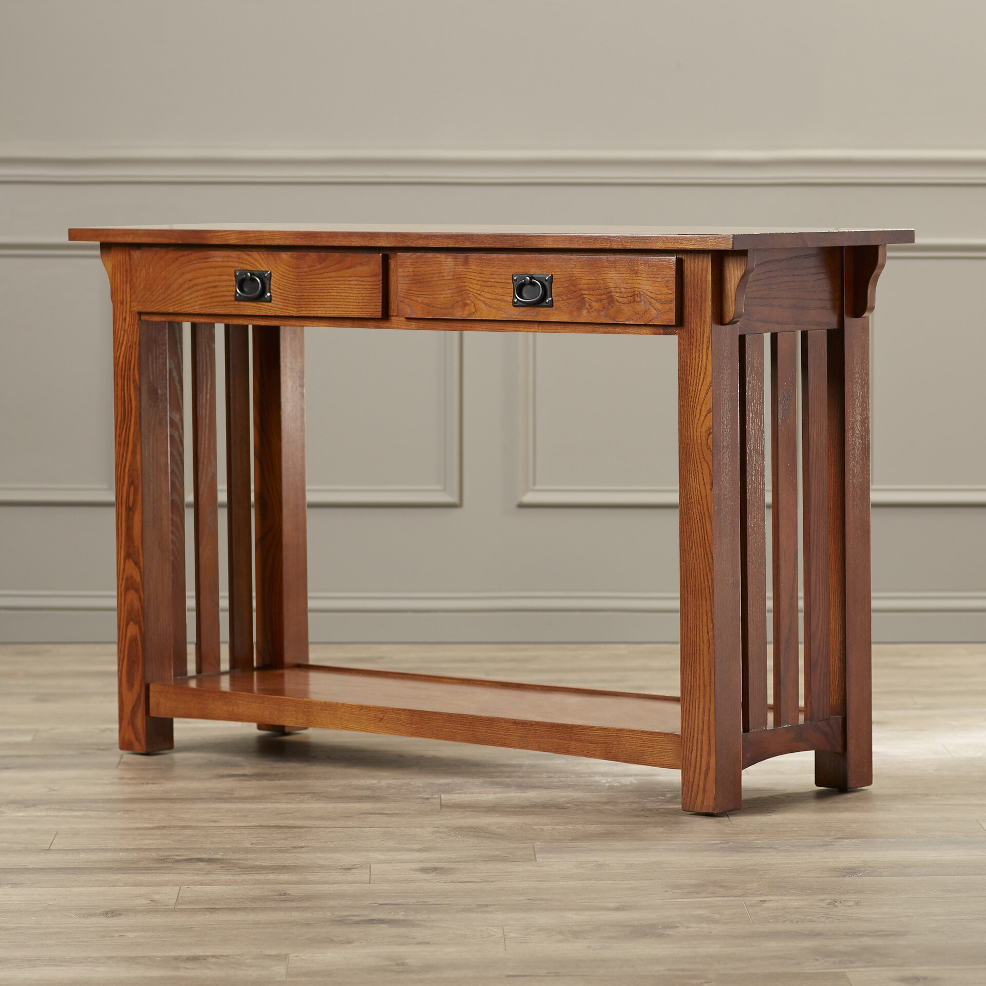 Leick mission impeccable console table reviews wayfair for Mission furniture