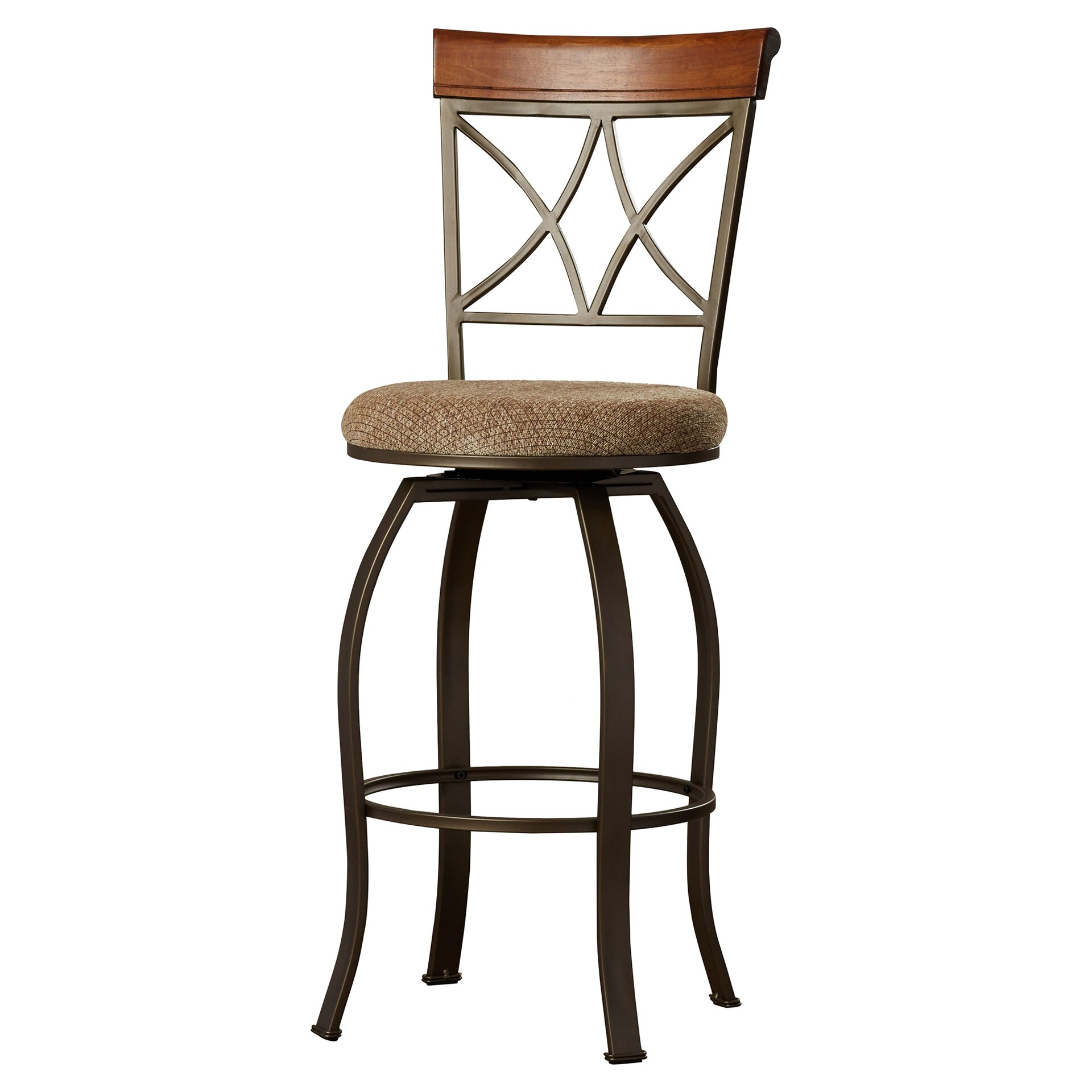 Charlton Home Follmer 29 Quot Swivel Bar Stool With Cushion