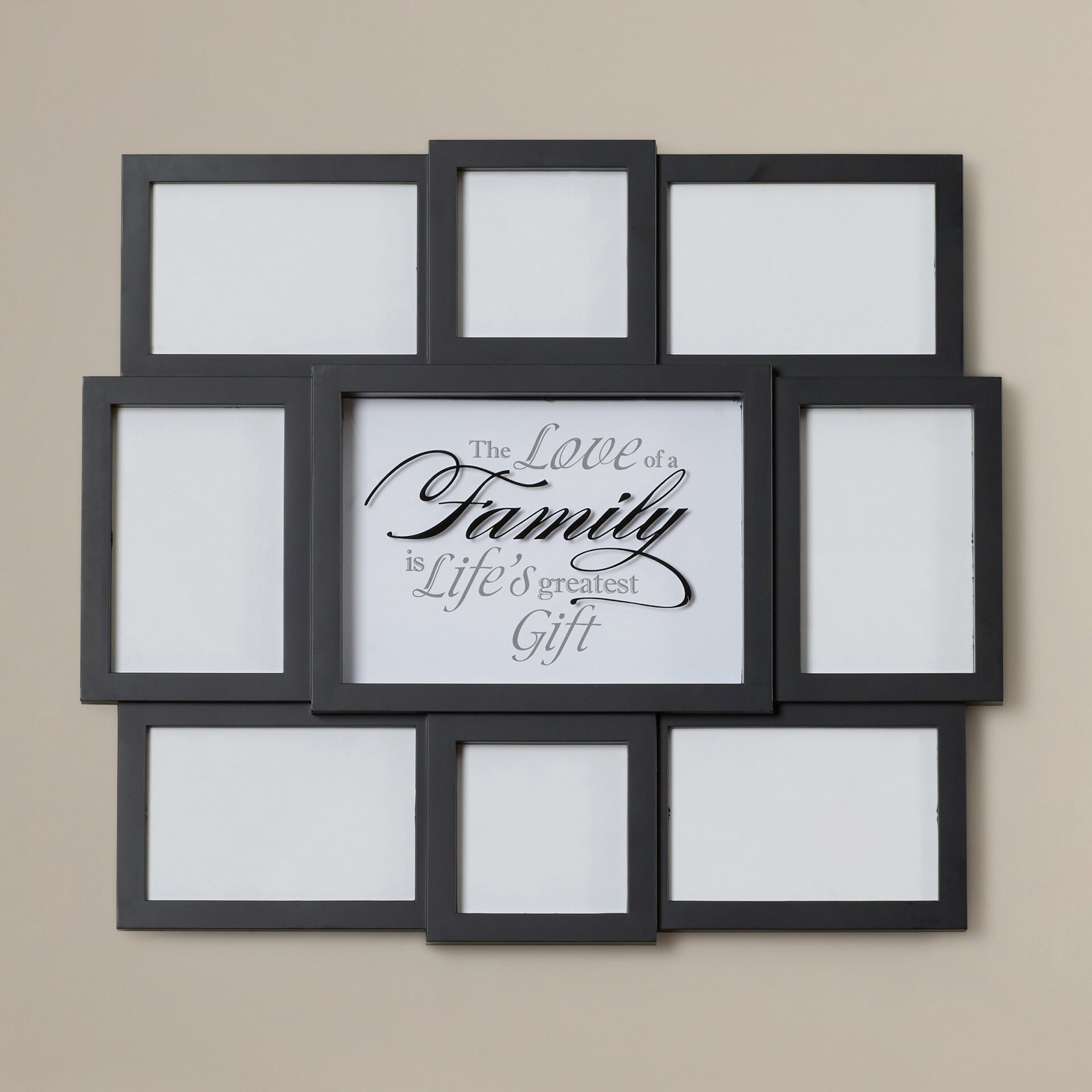 charlton home family sentiment 8 opening collage hanging. Black Bedroom Furniture Sets. Home Design Ideas