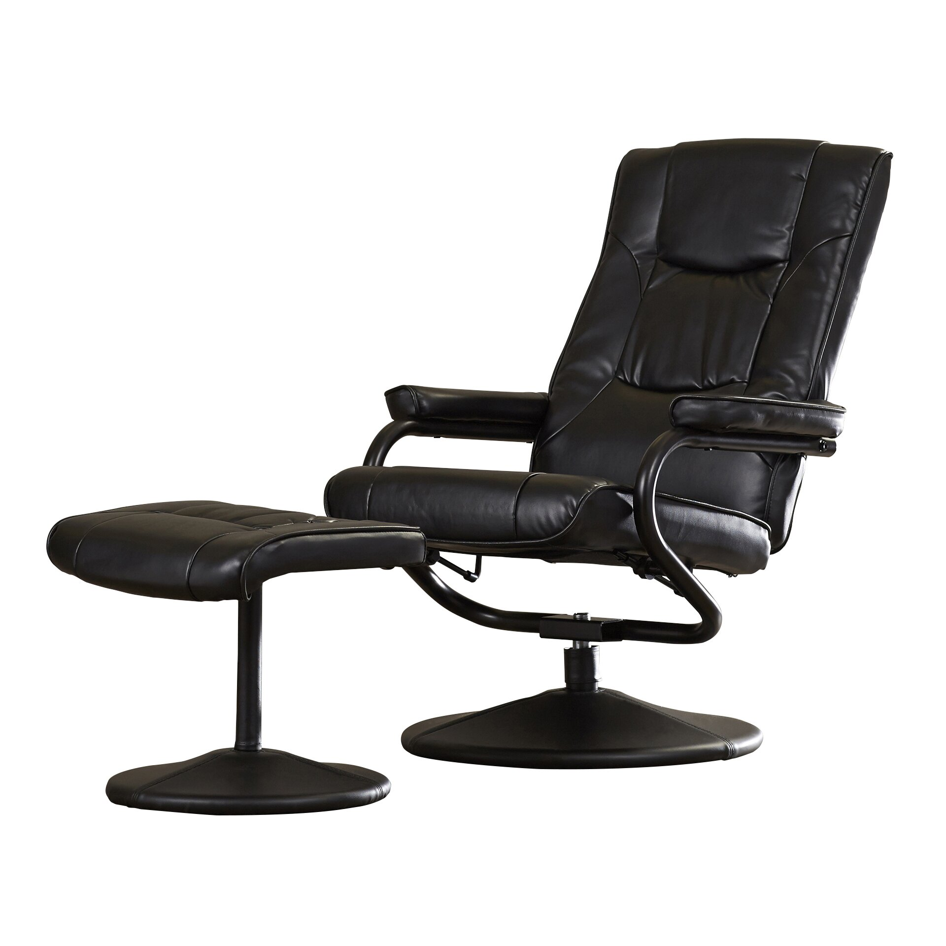 Charlton Home Soft Leather Reclining Office Chair And
