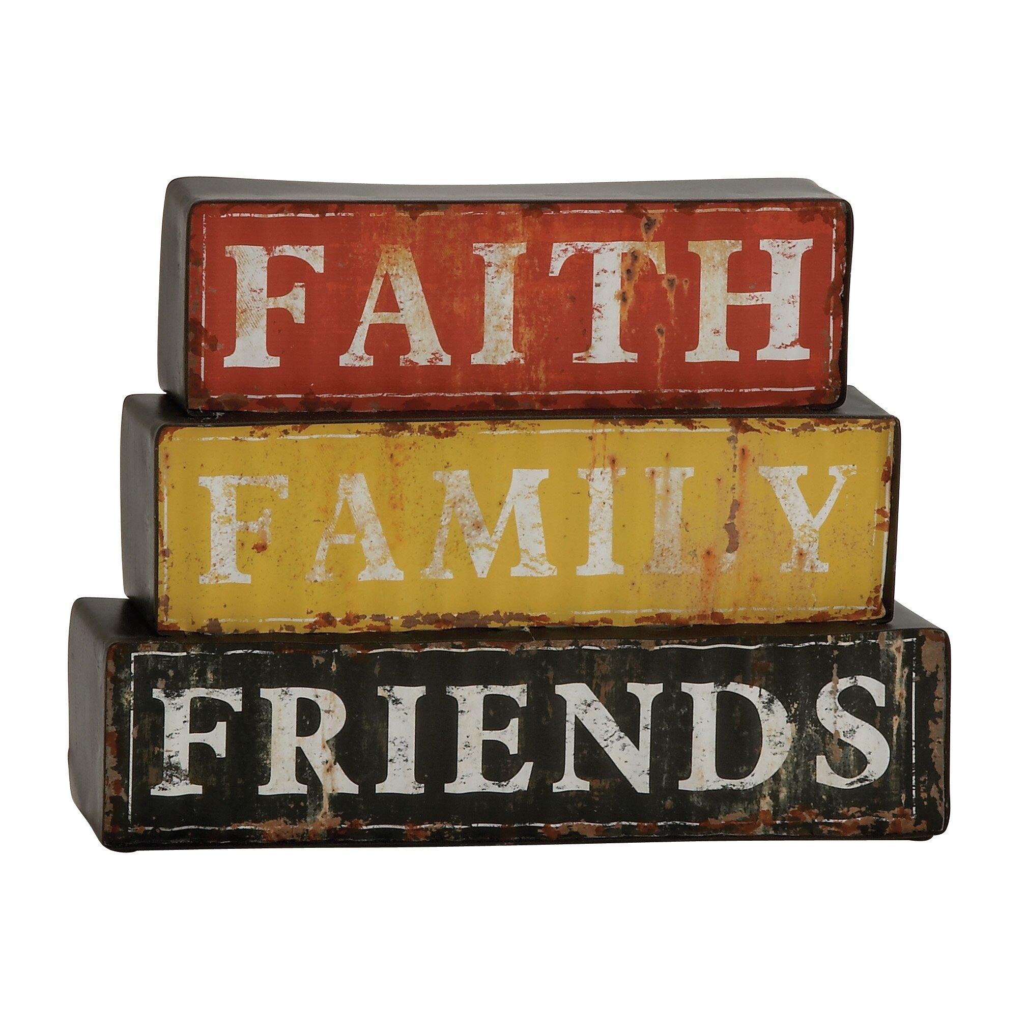 Charlton home dodge faith family friends wall d cor for Faith decor