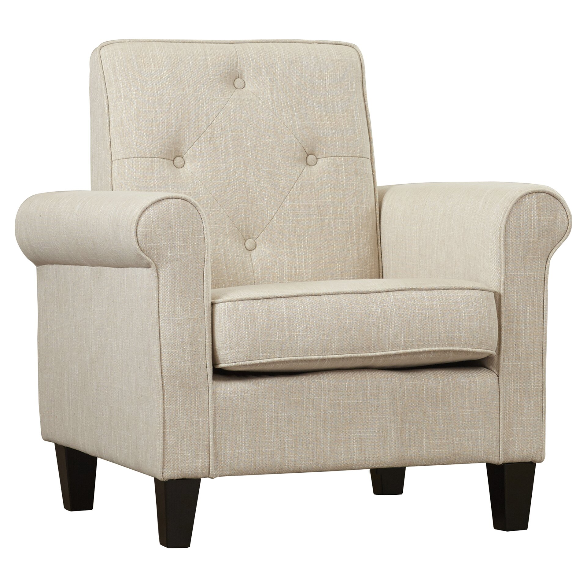 Charlton Home Coll Tufted Upholstered Lounge Chair & Reviews