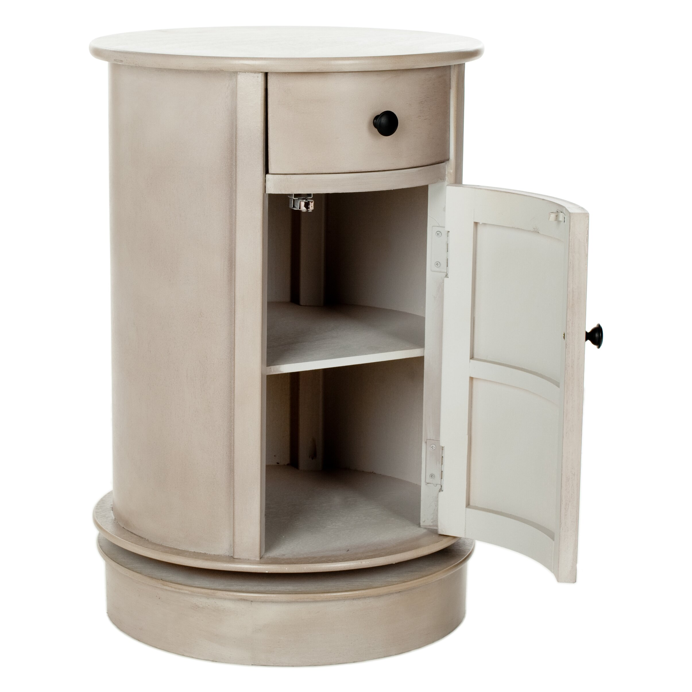 home brownsburg swivel oval 1 drawer cabinet reviews