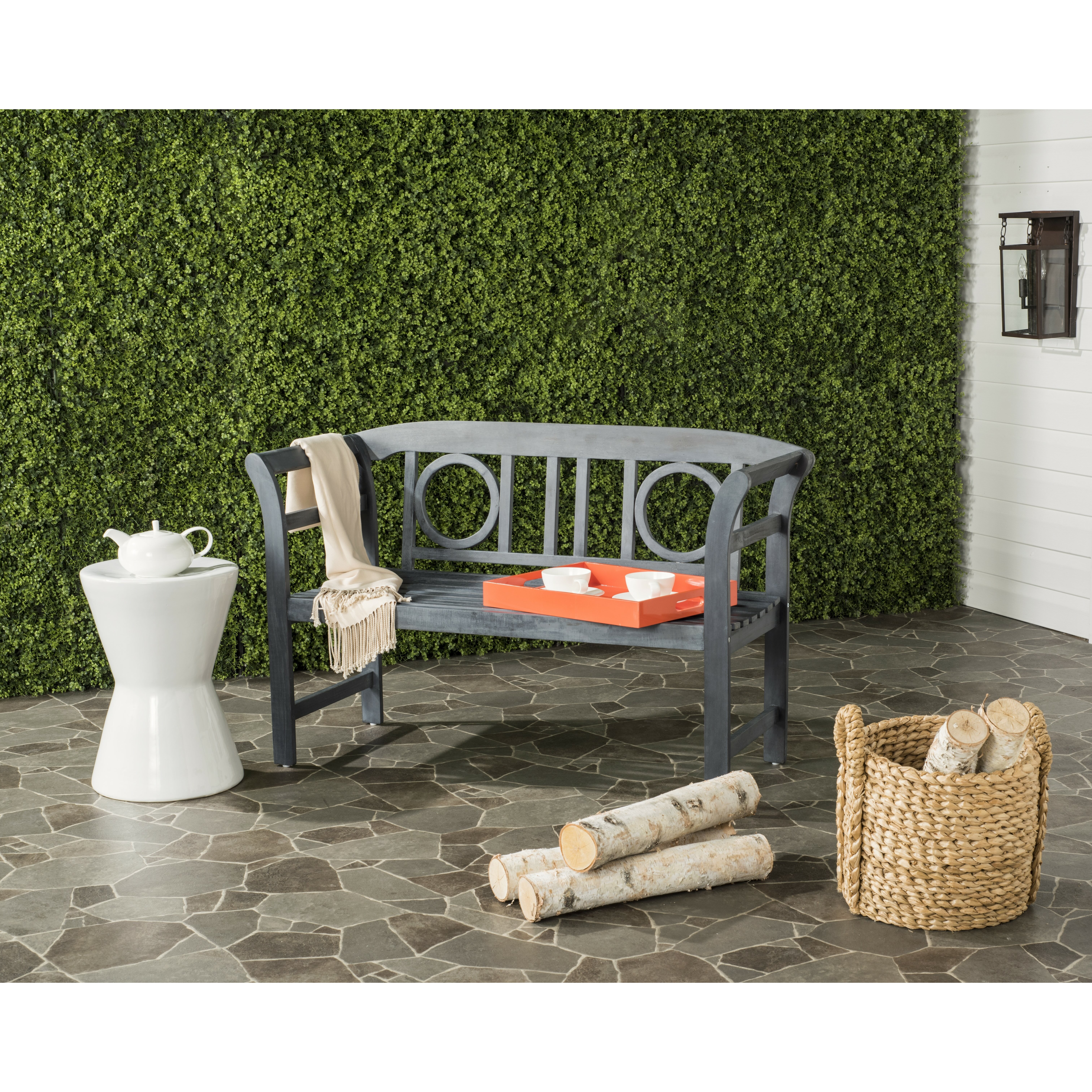 Charlton Home Brinwood 2 Seat Acacia Garden Bench