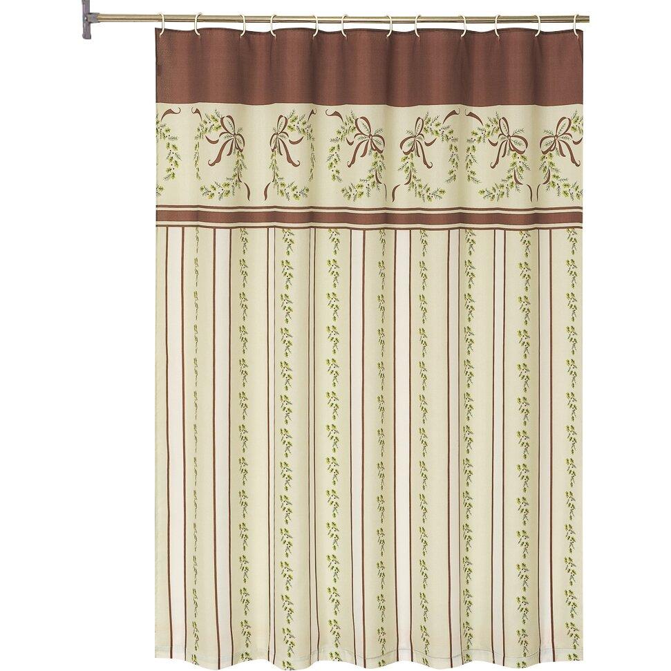 Charlton Home Kiska Christmas Holiday Shower Curtain Reviews Wayfair