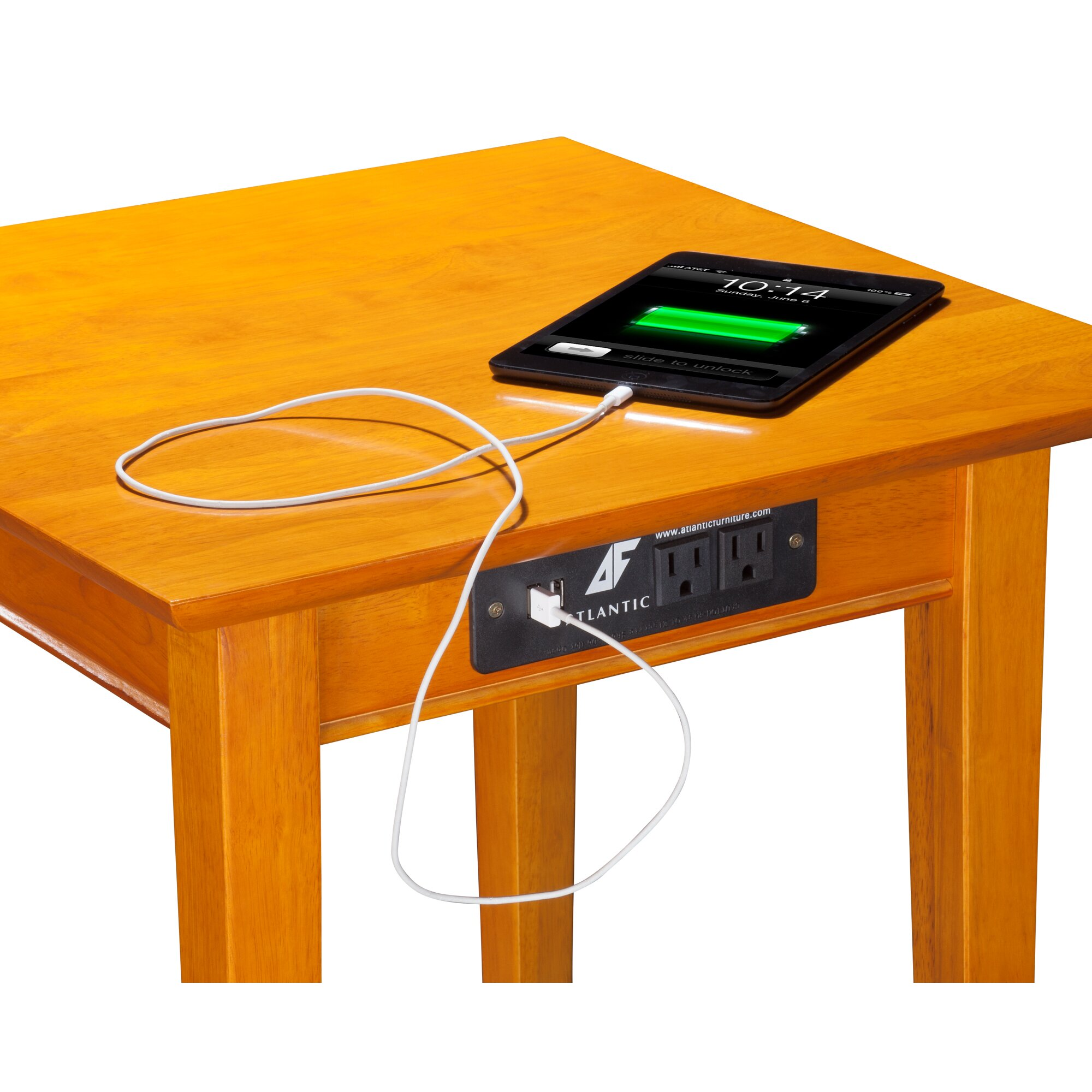 Low Dining Room Tables Charlton Home Oliver End Table With Charging Station