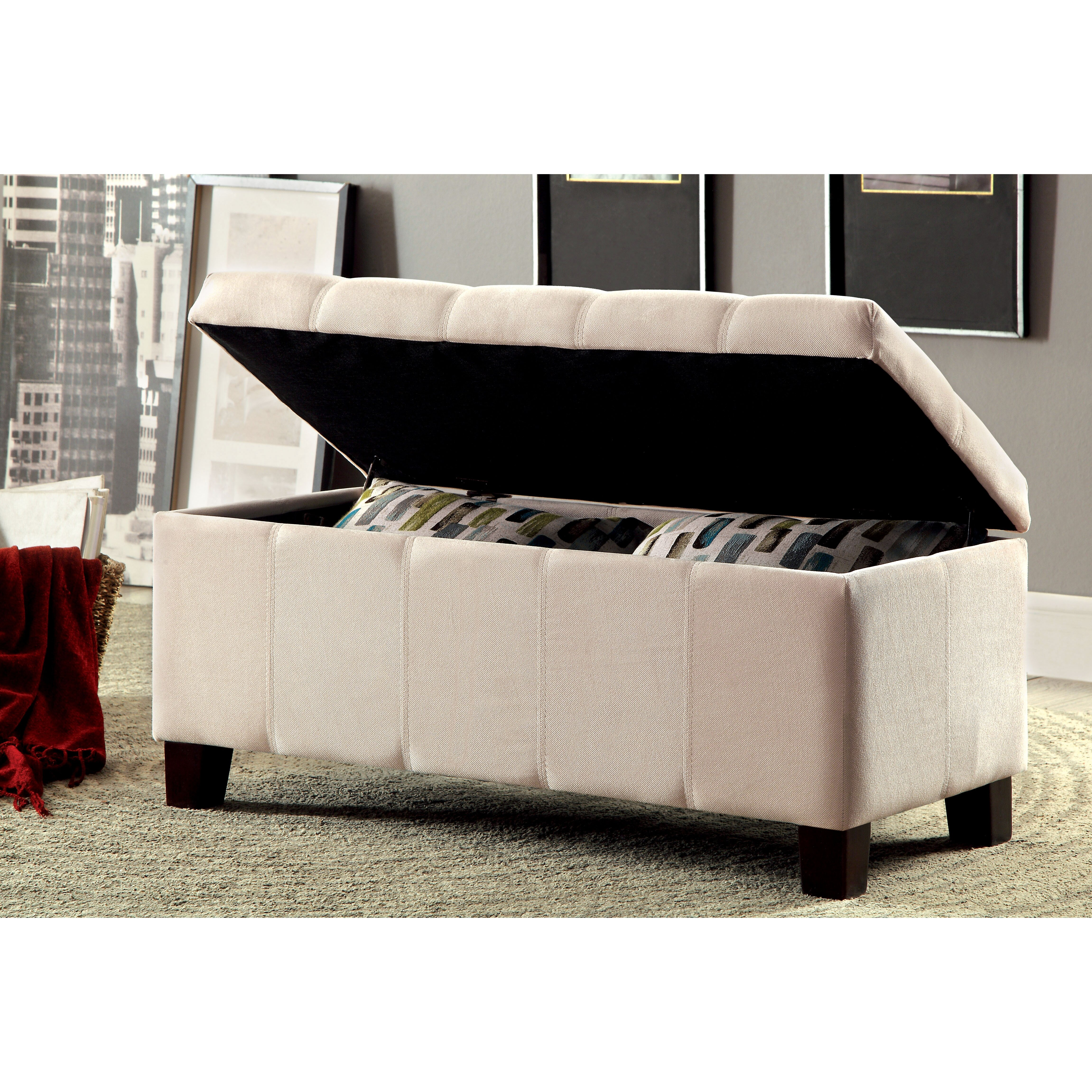 Charlton Home Oliver Upholstered Storage Entryway Bench