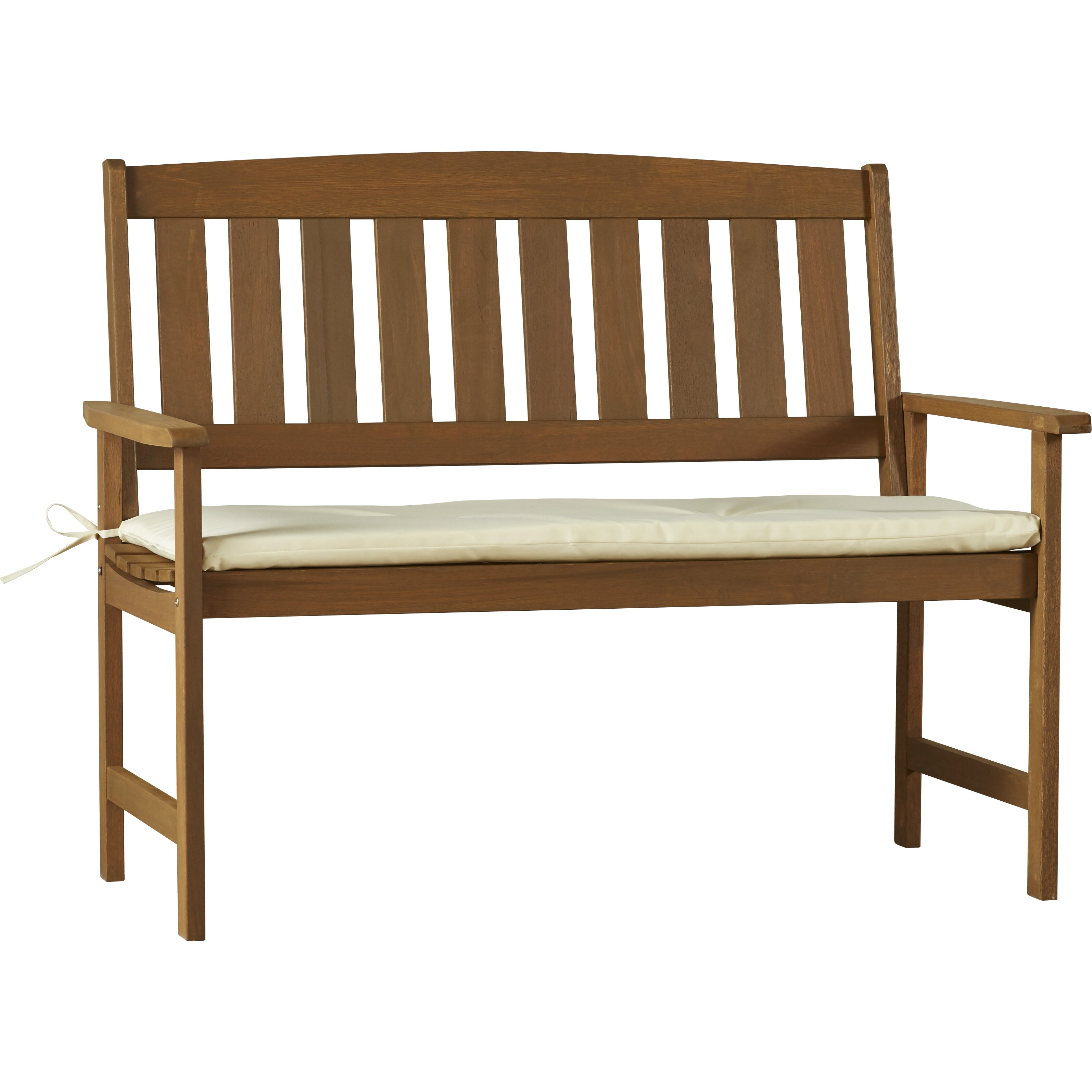 Charlton Home Lollie Wood 4 Piece Bench Seating Group With Cushion Reviews Wayfair
