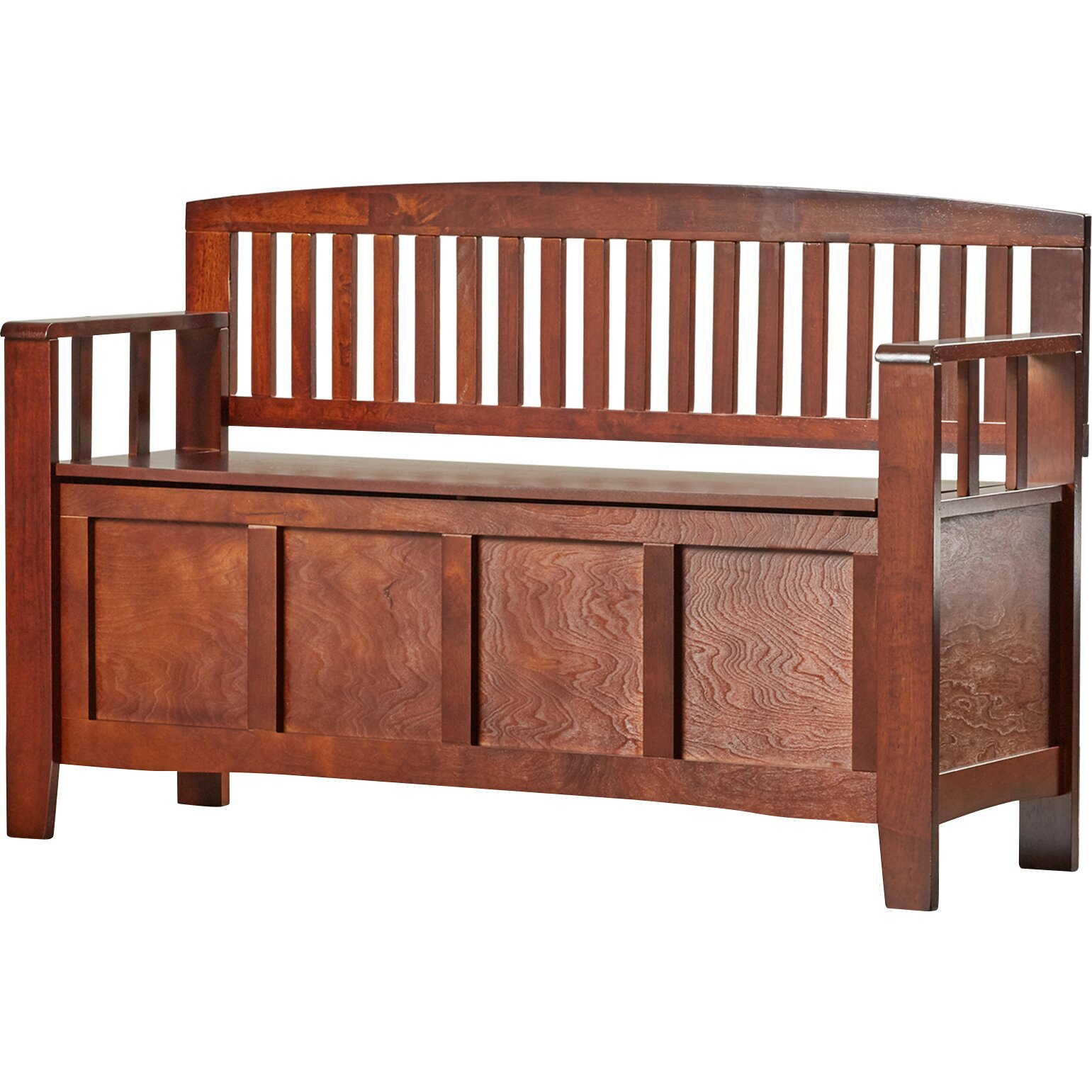 Charlton Home Bush Creek Solid Wood Storage Entryway Bench