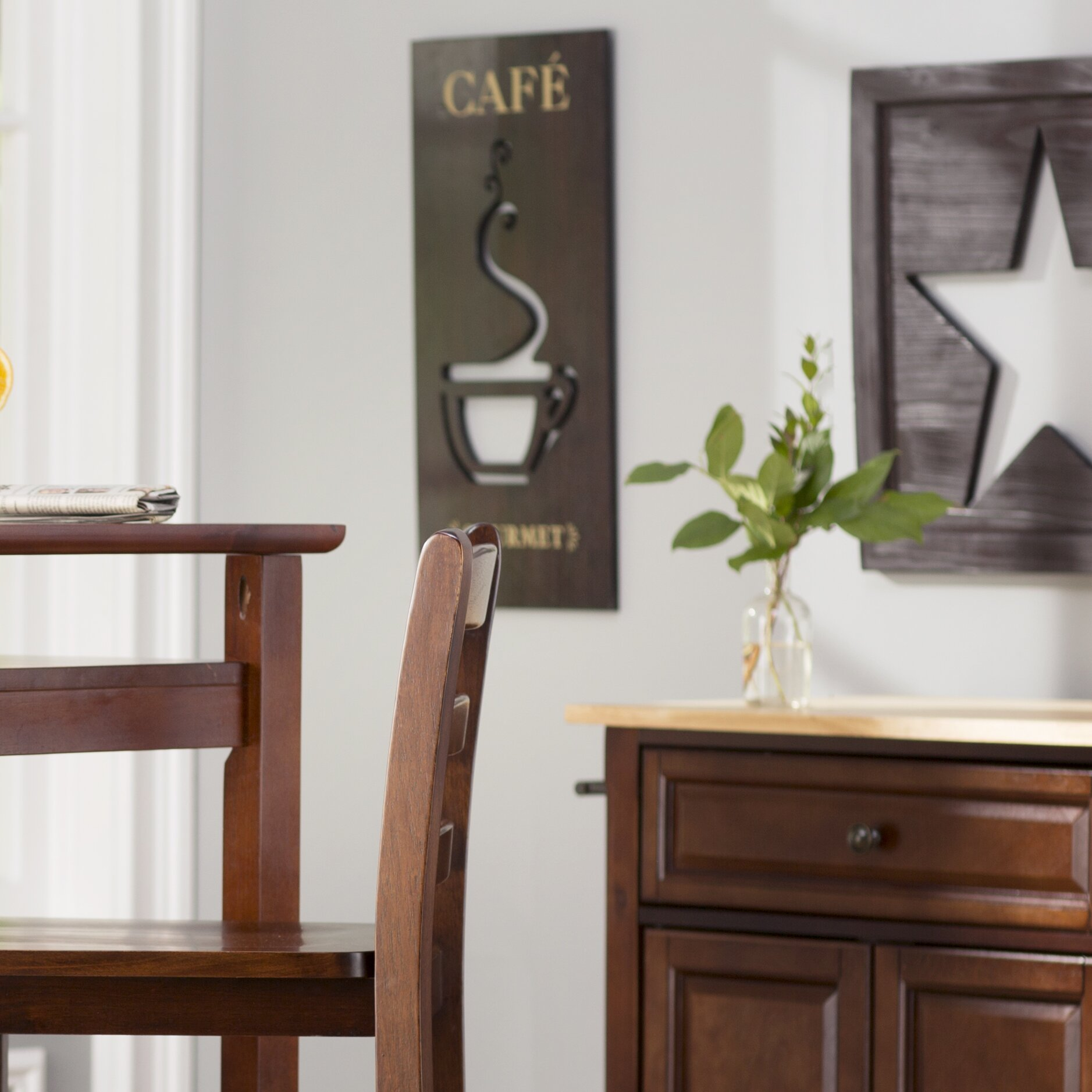Charlton Home Rectangle With Coffee Cutout Wall Decor