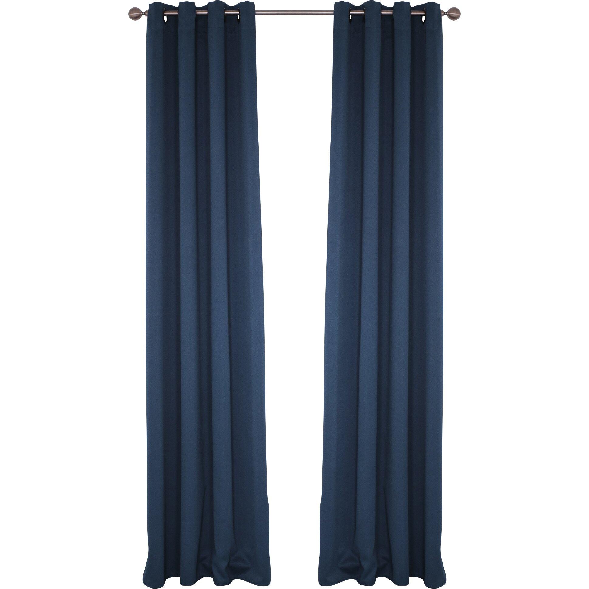 Charlton home kokomo grommet blackout single curtain panel amp reviews