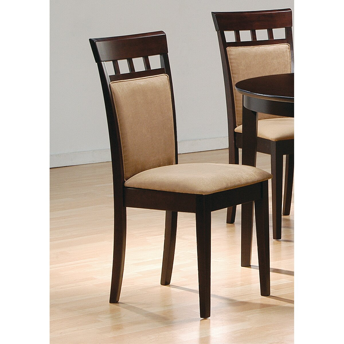 Charlton home zora cushion back side chair reviews wayfair - Cushioned dining room chairs ...