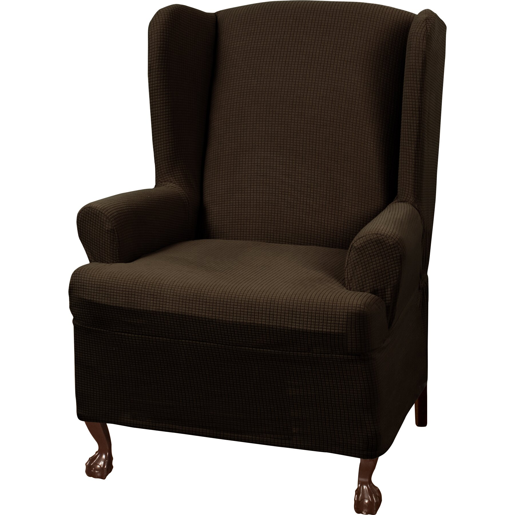 Charlton Home Blissfield Stretch One Piece Wing Chair T