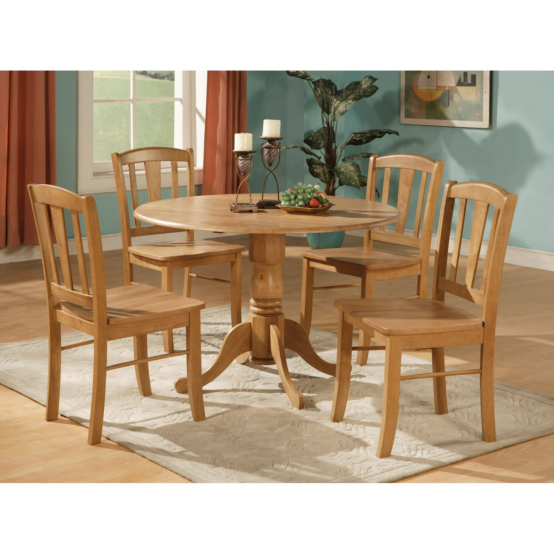 charlton home gloucester 5 piece dining set reviews. Black Bedroom Furniture Sets. Home Design Ideas