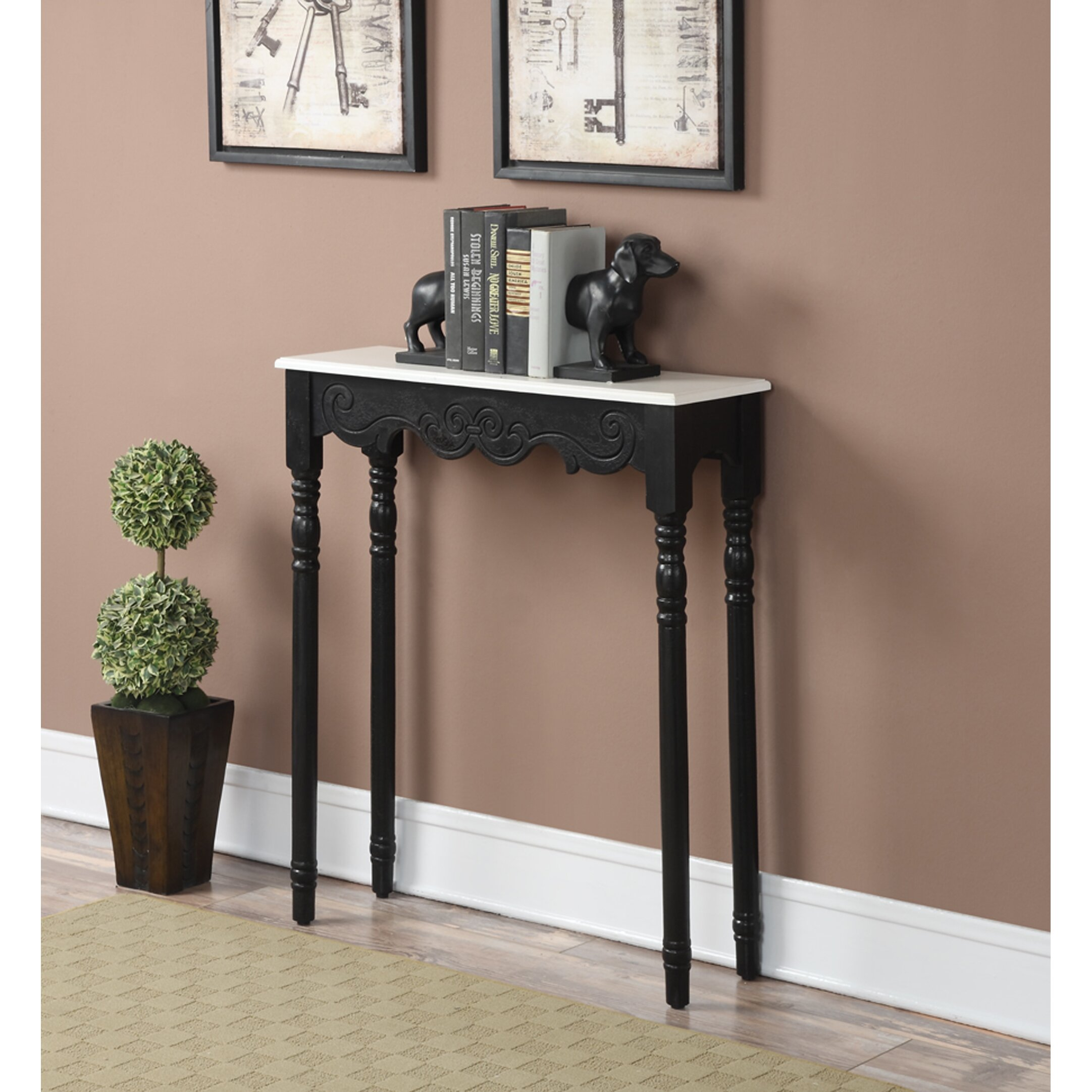 Charlton Home Hobart Console Table amp Reviews Wayfair : French Provence Monaco Console Table CHLH1565 from www.wayfair.com size 2163 x 2163 jpeg 540kB