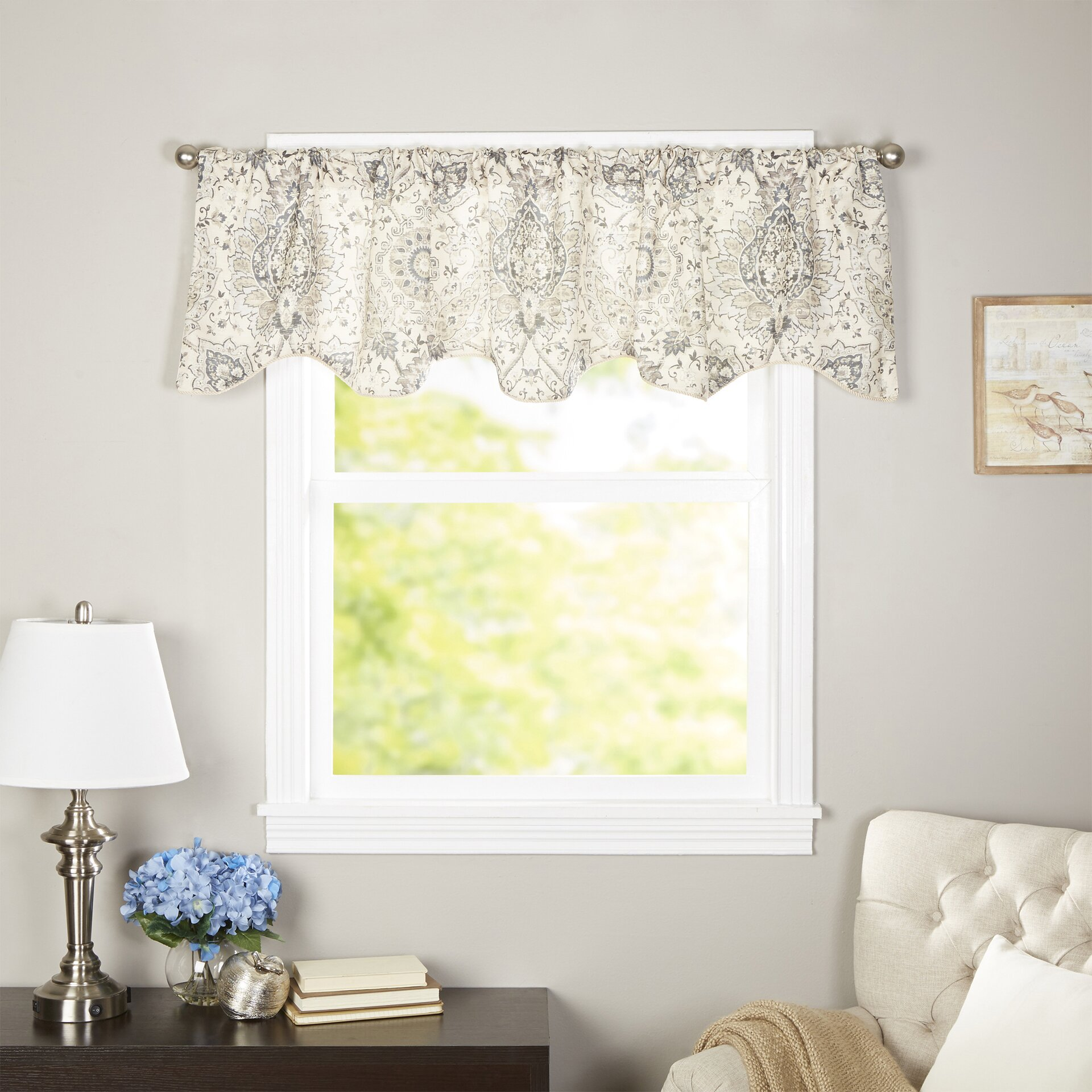 charlton home stanley curtain valance amp reviews wayfair