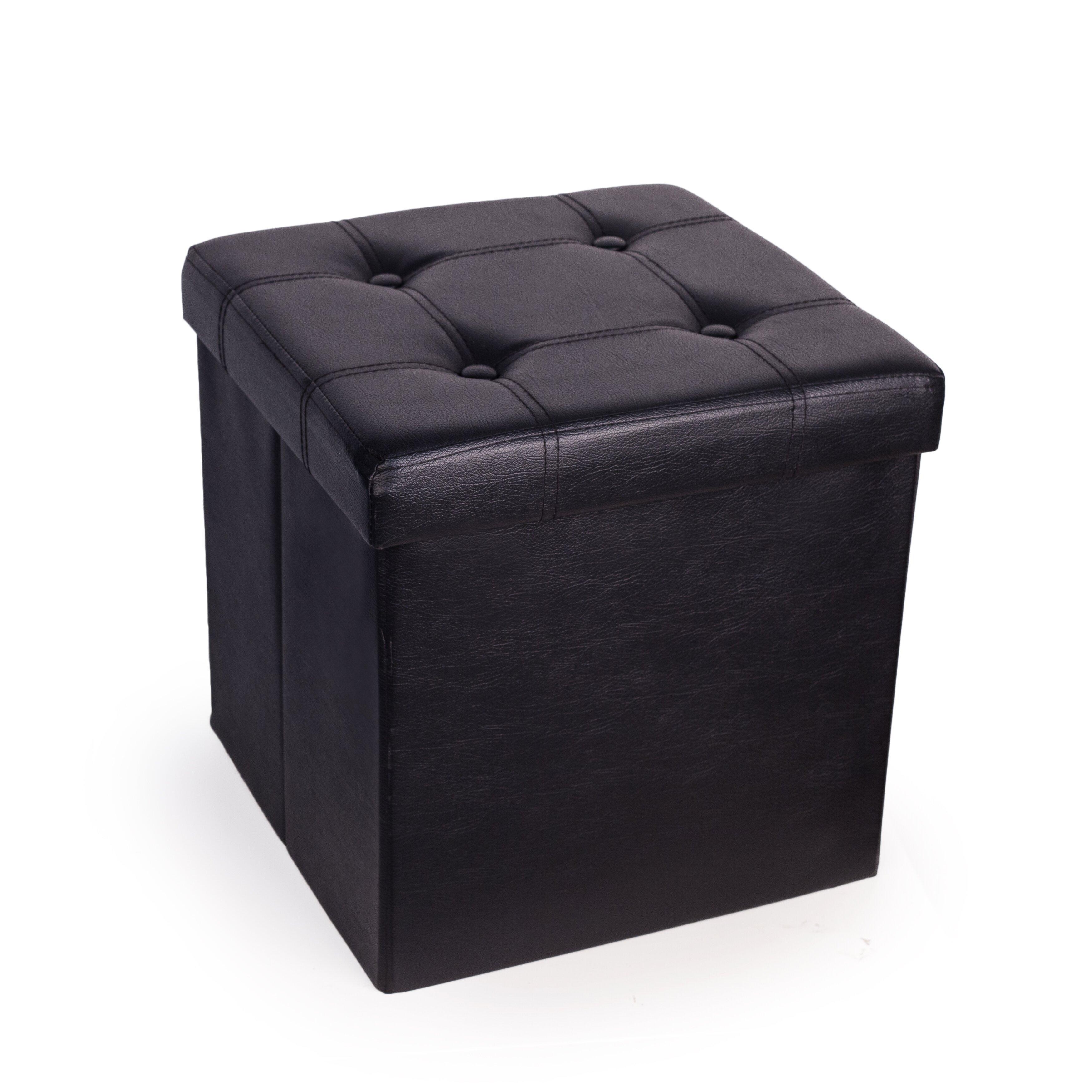 charlton home cassell upholstered folding storage ottoman