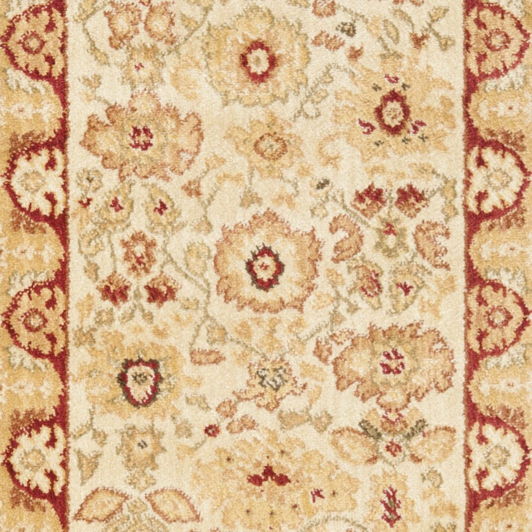 Charlton home christensen creme red floral area rug for Red floral area rug