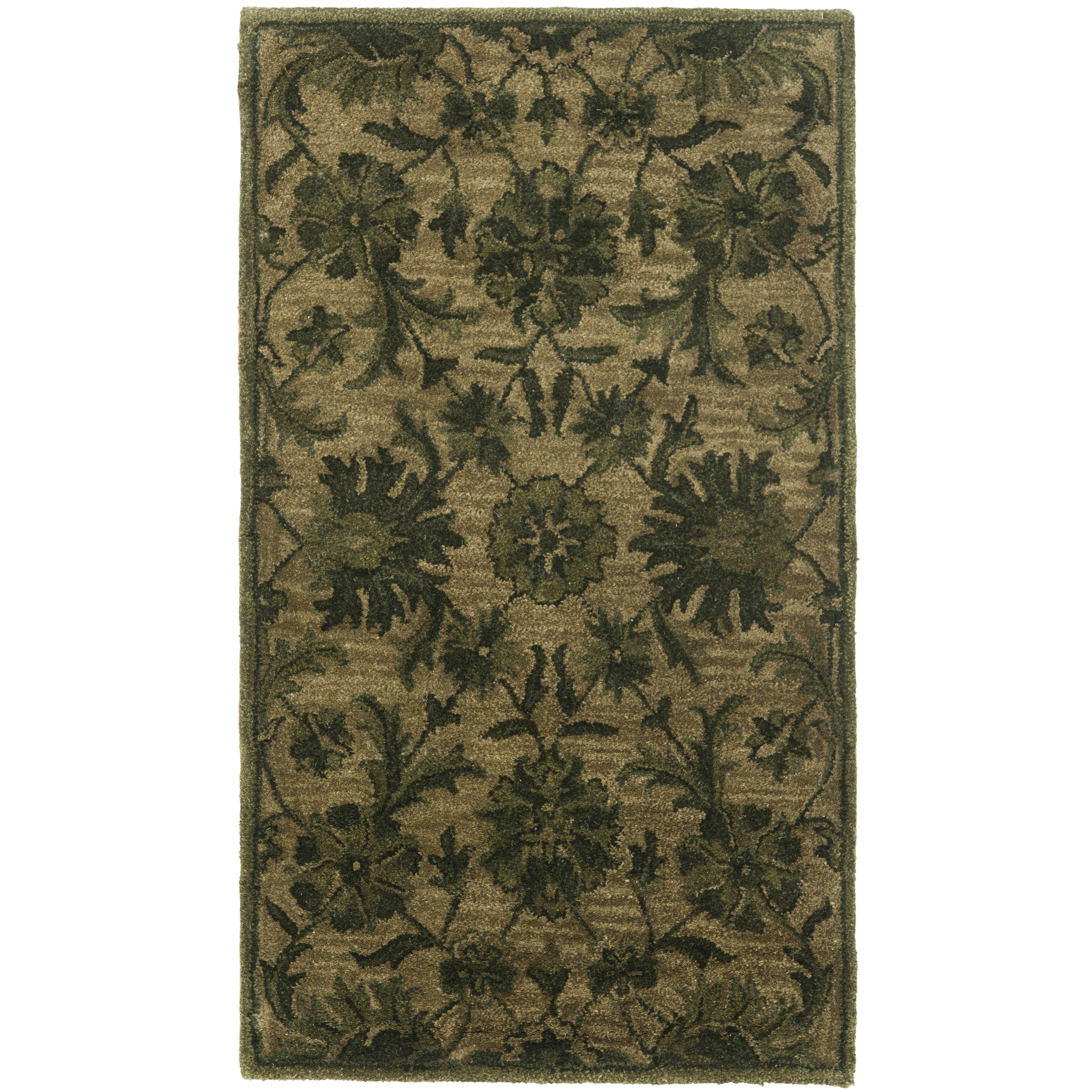 Charlton Home Dunbar Olive/Green Area Rug & Reviews