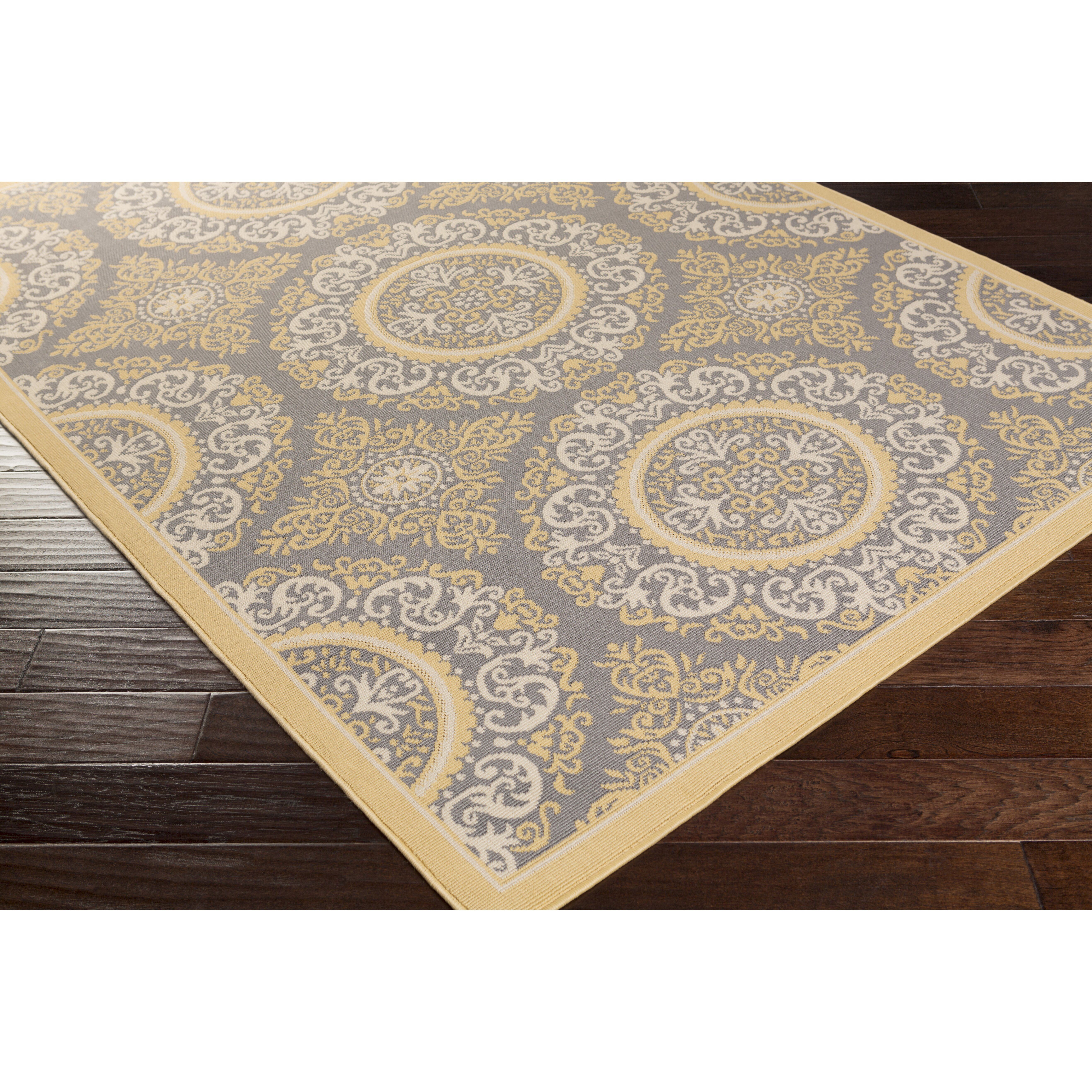 Charlton Home Osage Yellow Indoor/Outdoor Area Rug ...