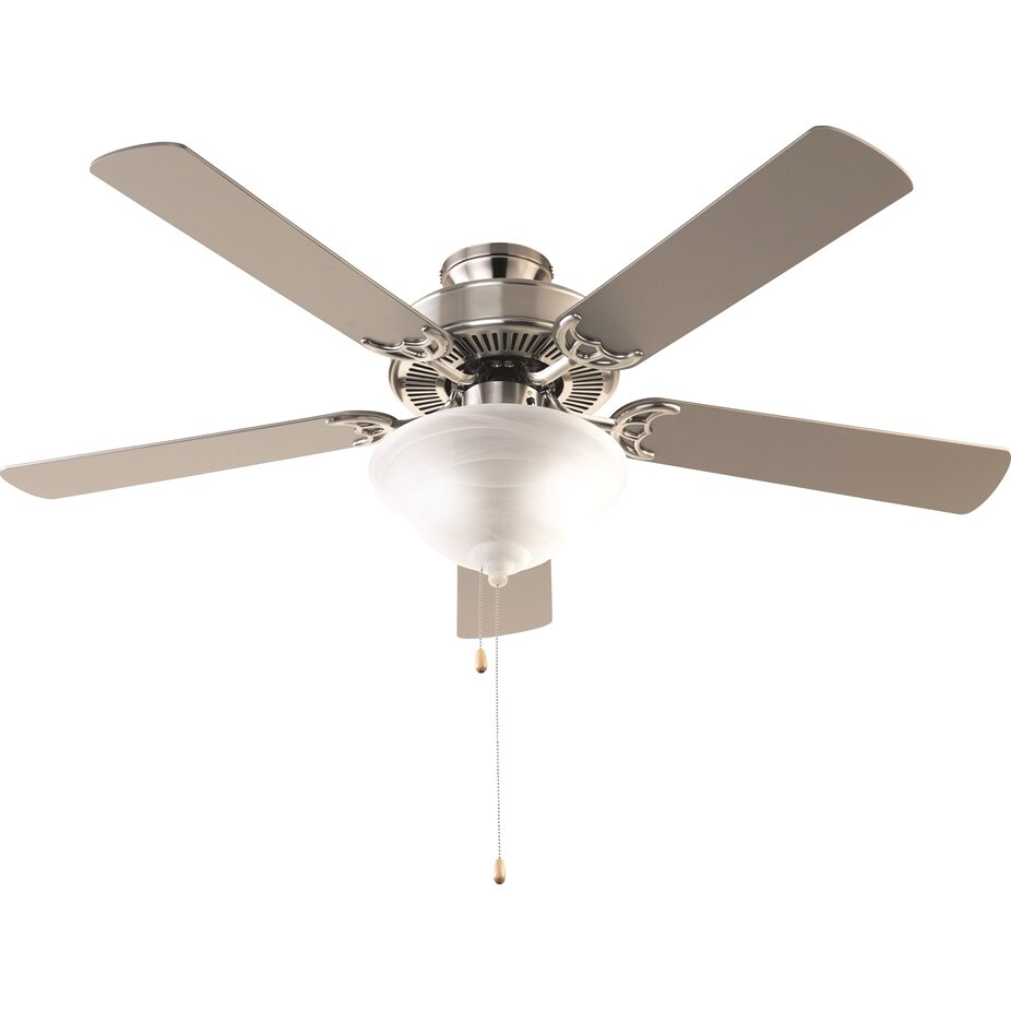 charlton home 52 leesburg 3 light 5 blade ceiling fan reviews wayfair. Black Bedroom Furniture Sets. Home Design Ideas