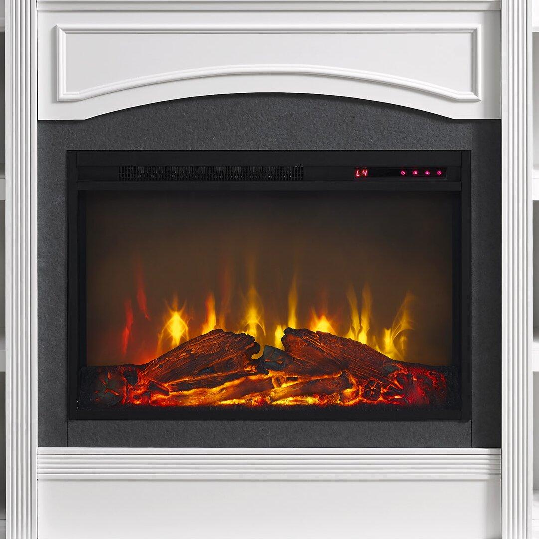 Charlton Home Allsop Mantel Wall Mount Electric Fireplace Reviews Wayfair