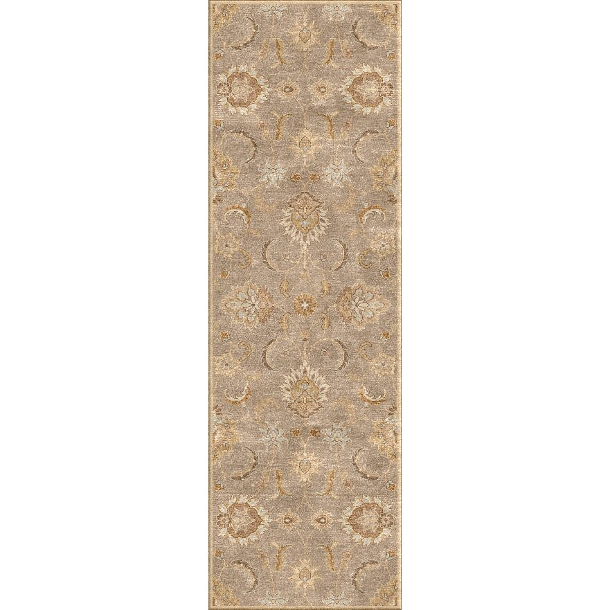 Charlton home thornhill gray tan area rug reviews wayfair for Grey and tan rug