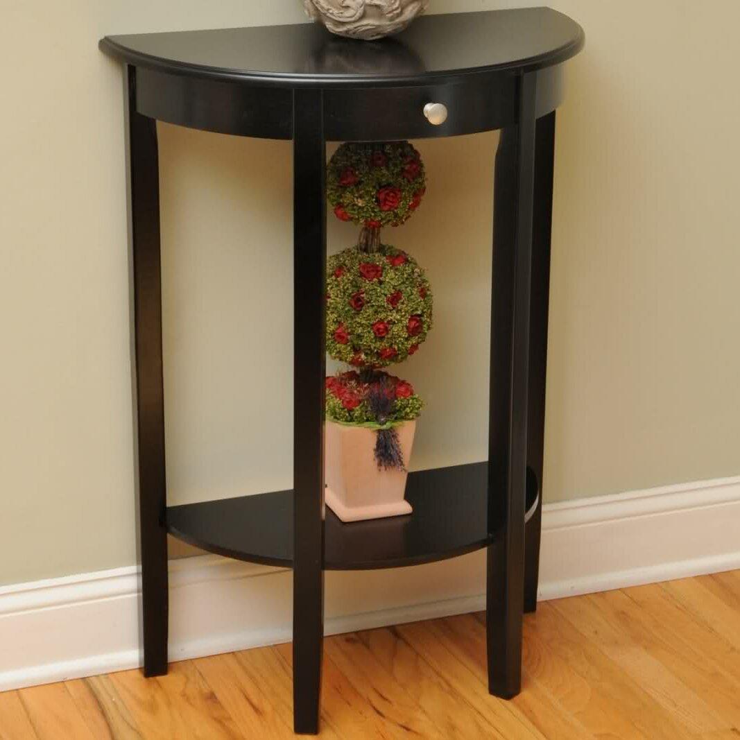 varick gallery melville half moon console table reviews wayfair. Black Bedroom Furniture Sets. Home Design Ideas