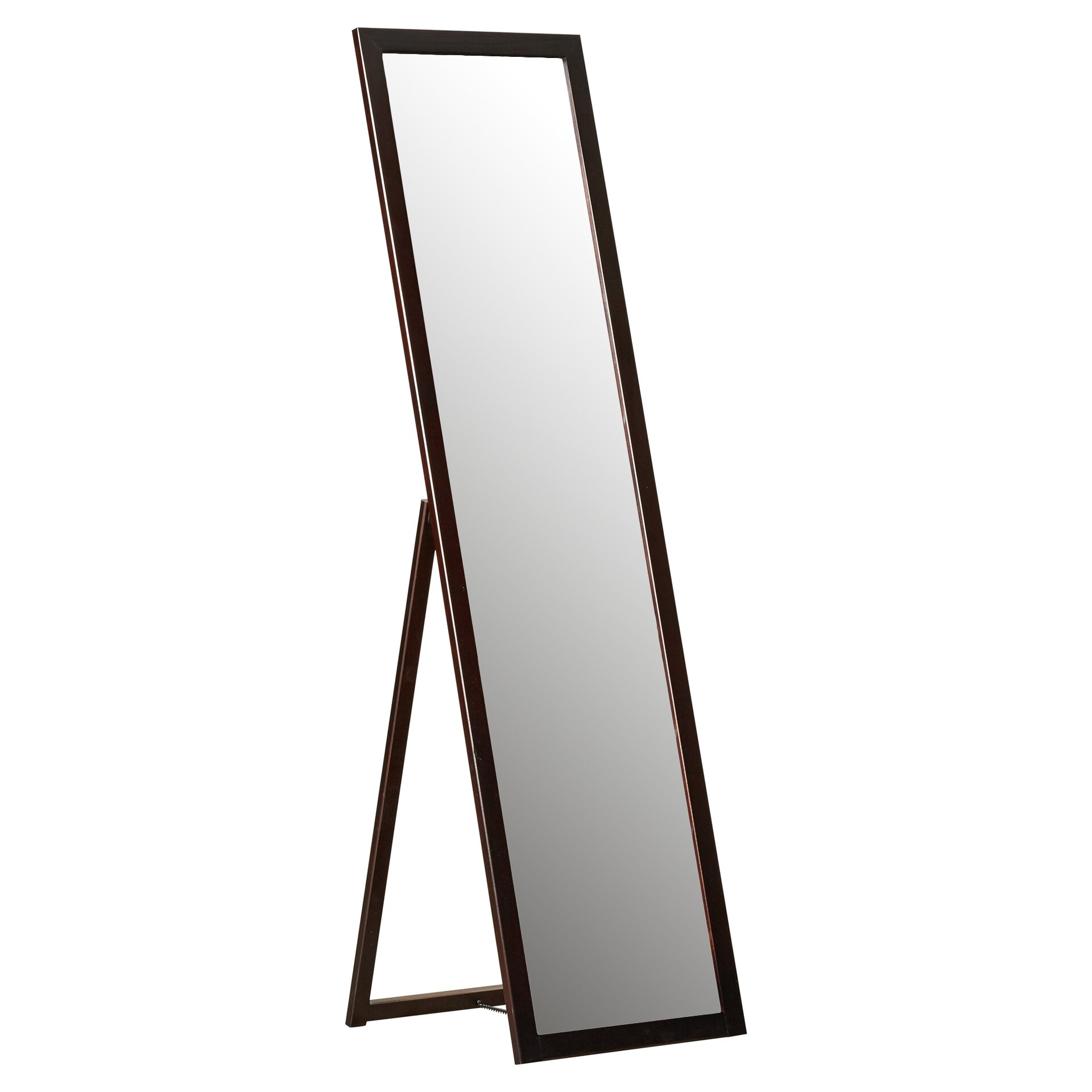 Varick gallery galeton full length stand mirror reviews for Standing glass mirror