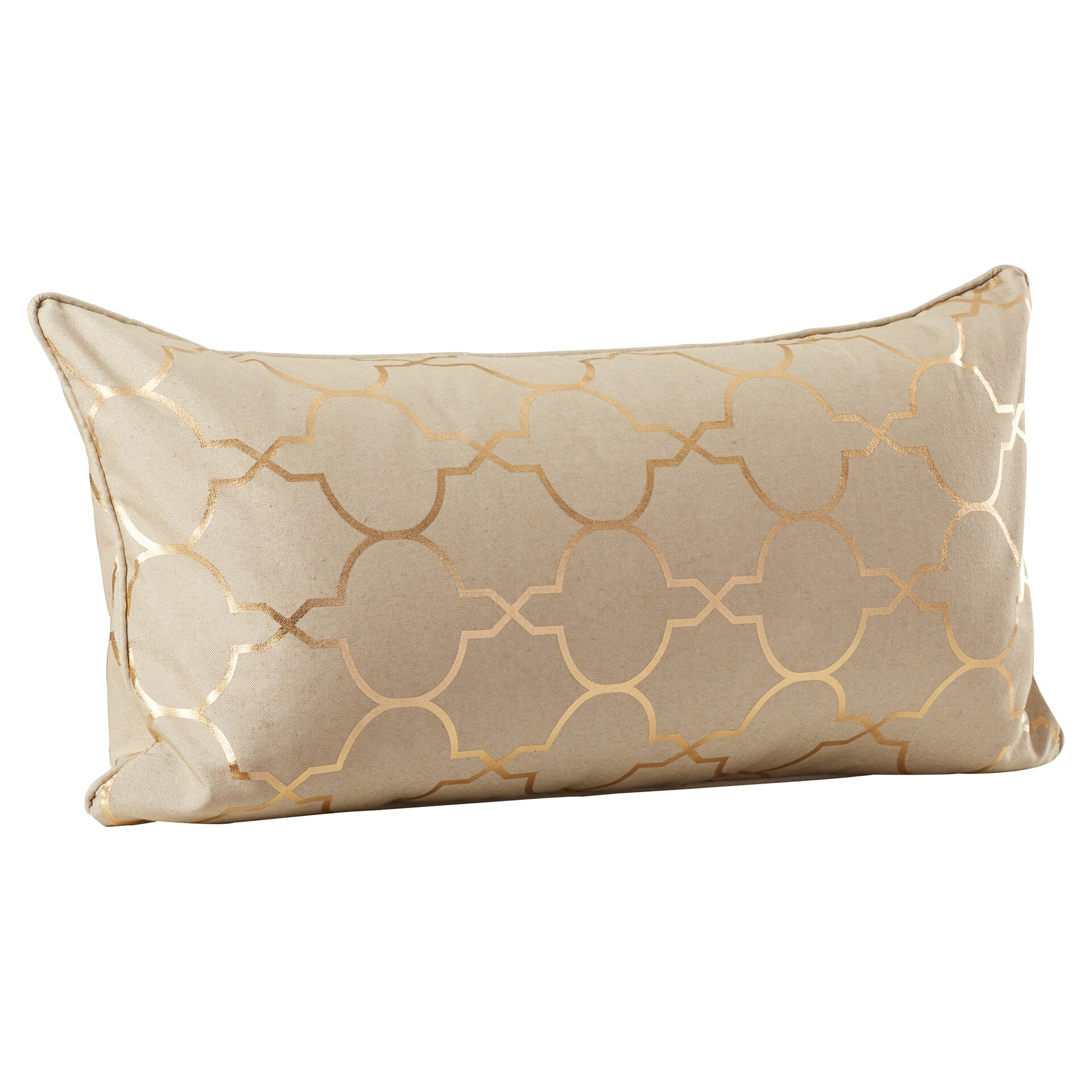 Varick Gallery Salisbury Foil Tile Throw Pillow & Reviews Wayfair