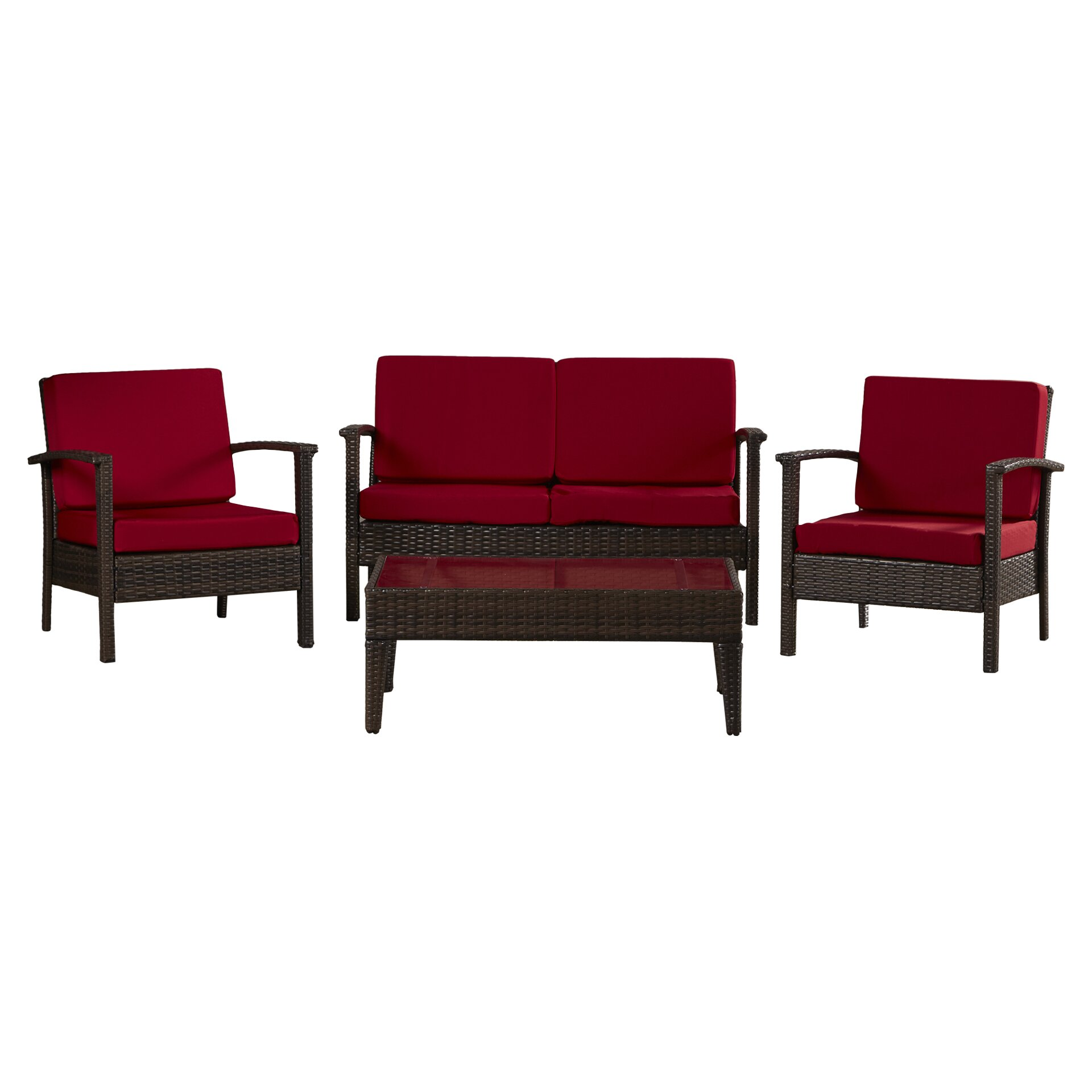 Varick Gallery Ainaro 4 Piece Deep Seating Group Set With