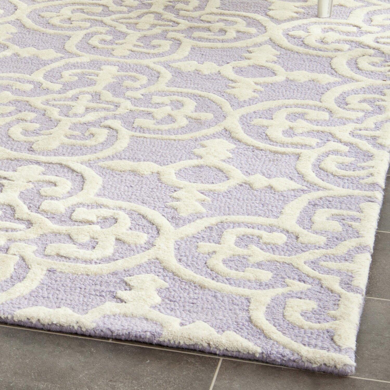 Lavender Rug: Varick Gallery Martins Lavender / Ivory Area Rug & Reviews