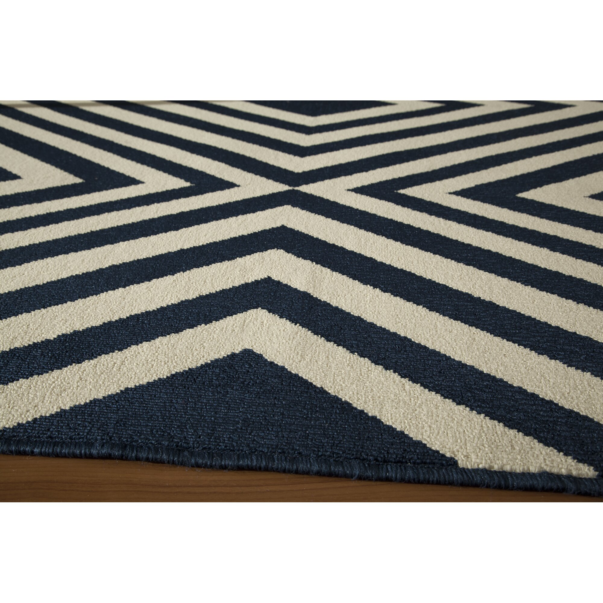 varick gallery wexler woven navy white area rug reviews wayfair