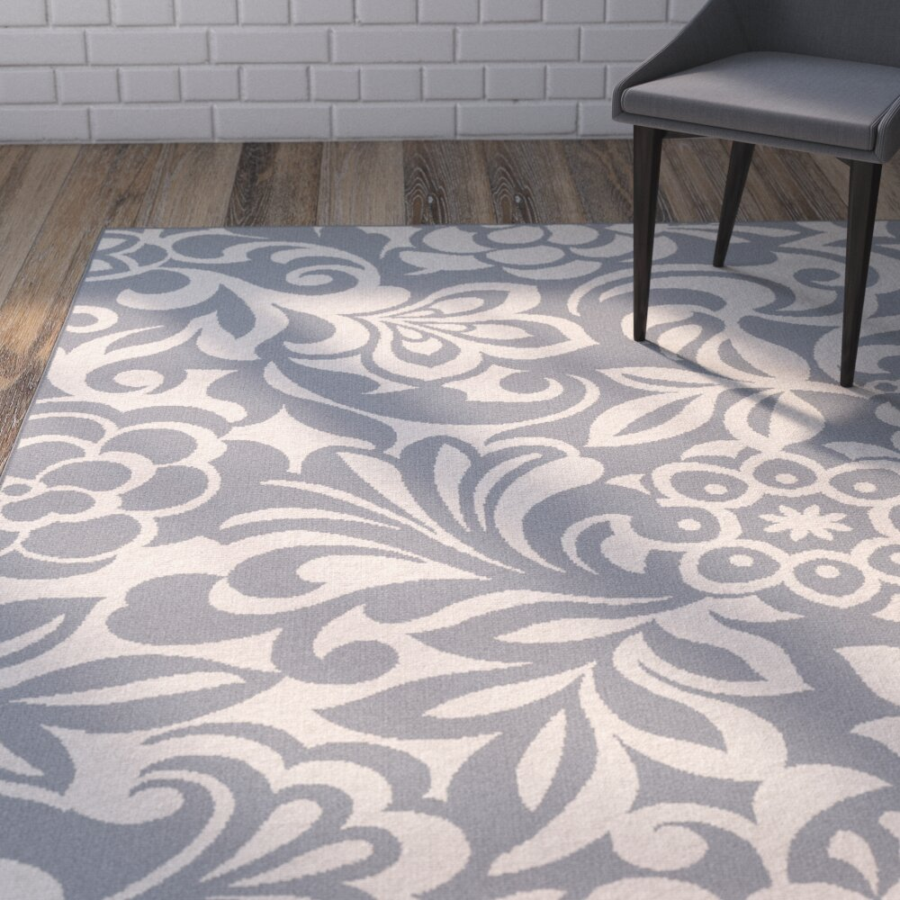 Varick gallery gorton gray indoor outdoor area rug for Indoor out door rugs