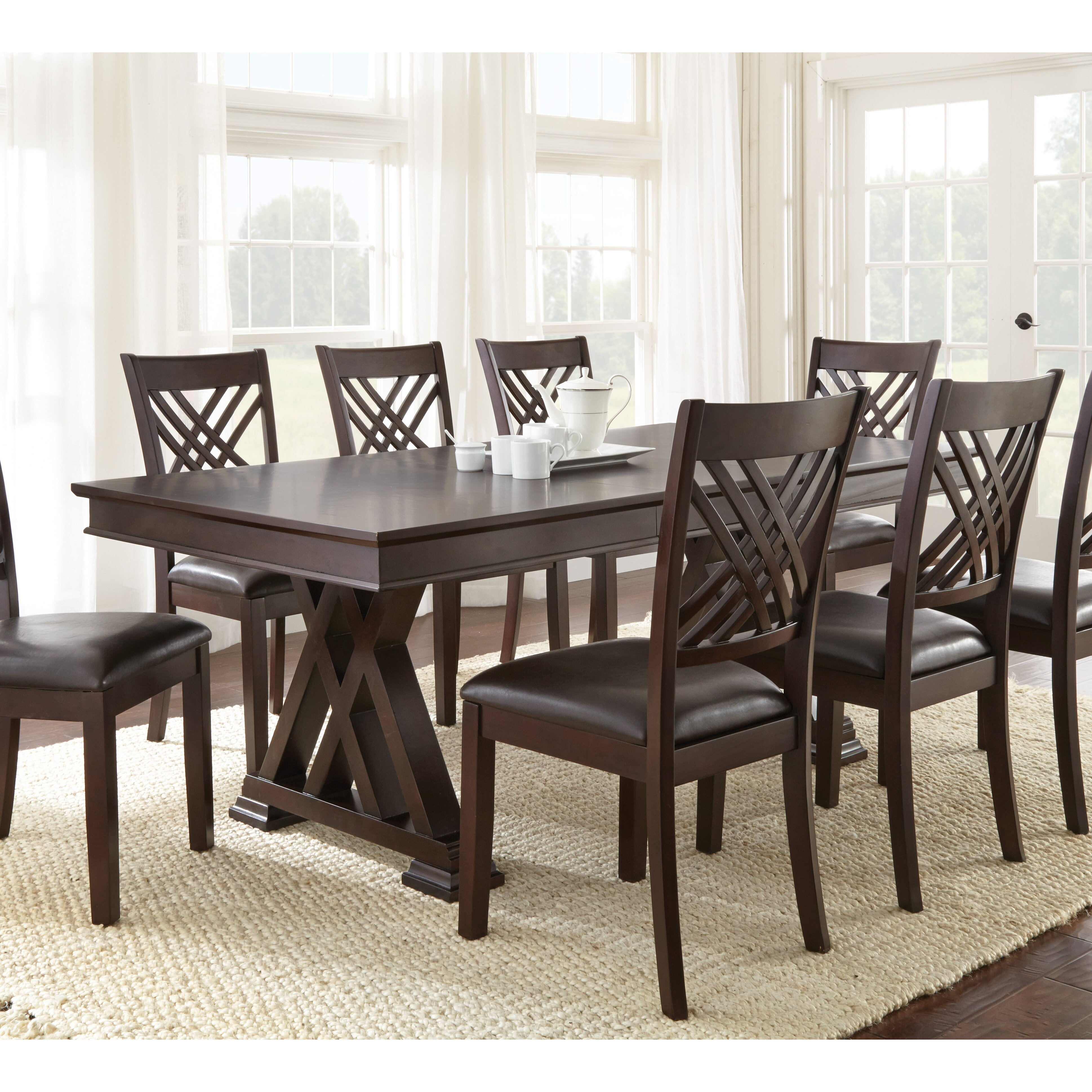 Brayden studio adrian 9 piece dining set reviews wayfair for 9 piece dining room set
