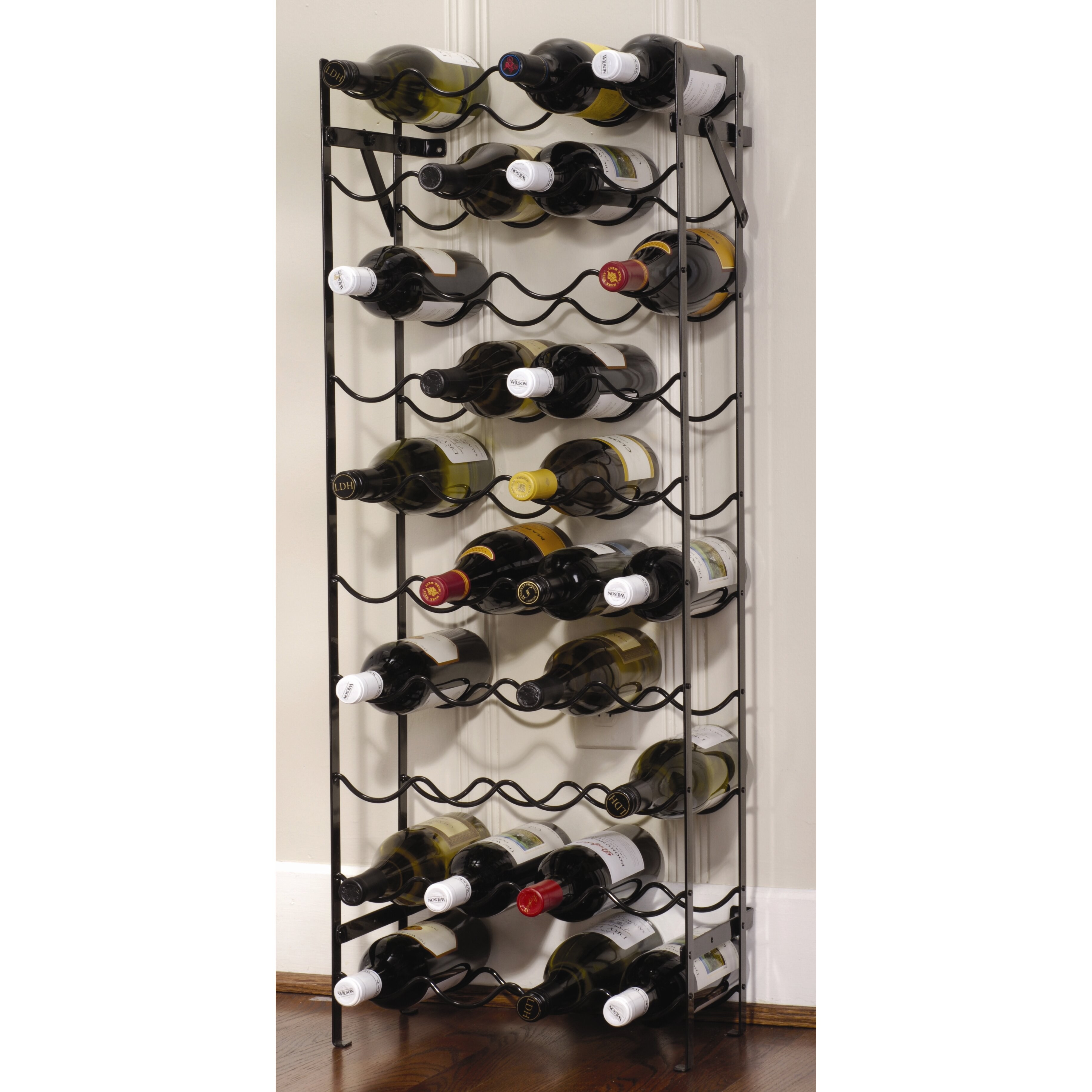 Brayden studio cooksey 40 bottle floor wine rack reviews for Floor wine rack
