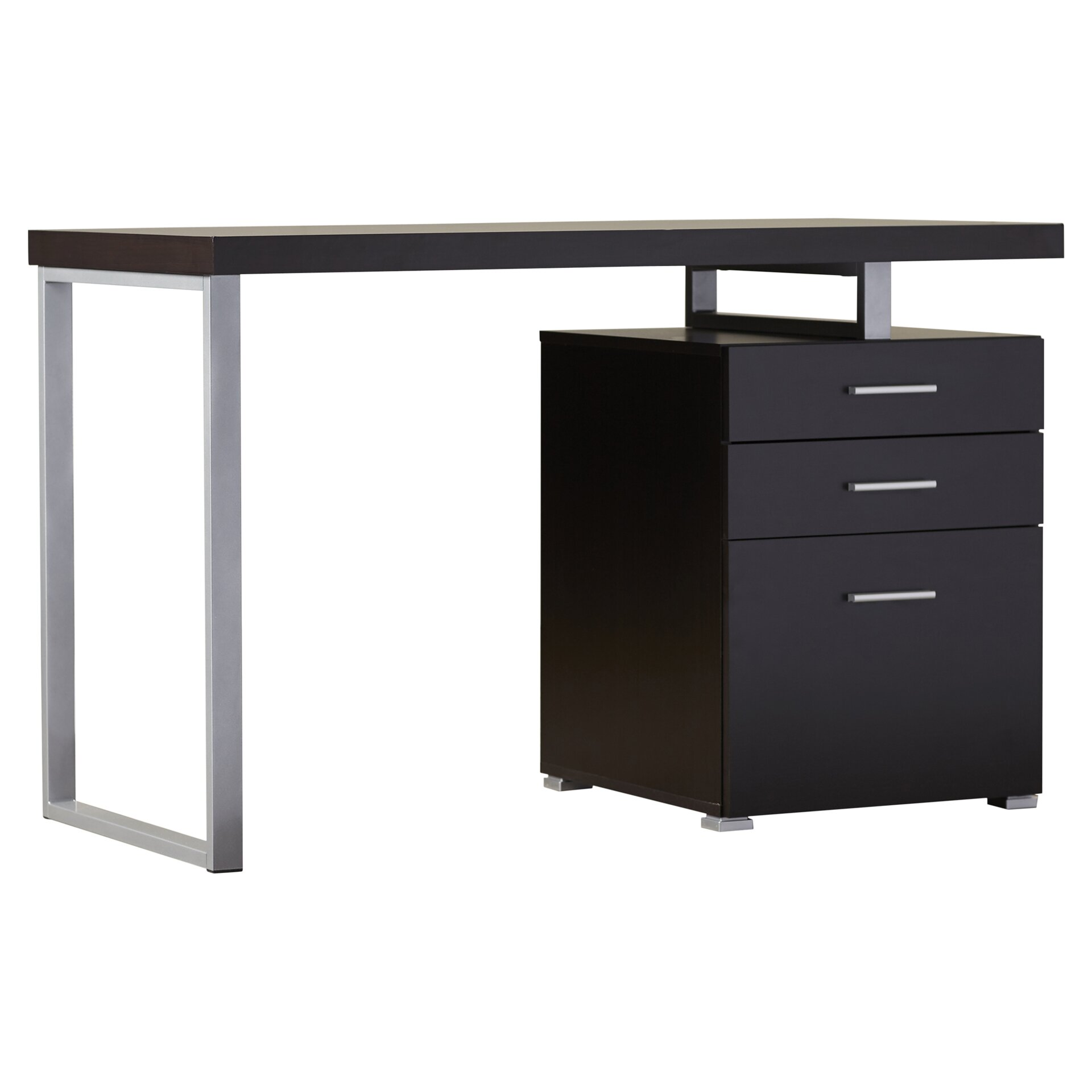 Brayden Studio Pascua Computer Desk with 3 Space Storage Drawers & Reviews | Wayfair