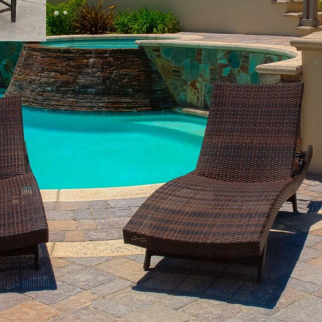 Brayden Studio Waylon 5 Piece Adjustable Chaise Lounge Nesting Table Set Reviews Wayfair