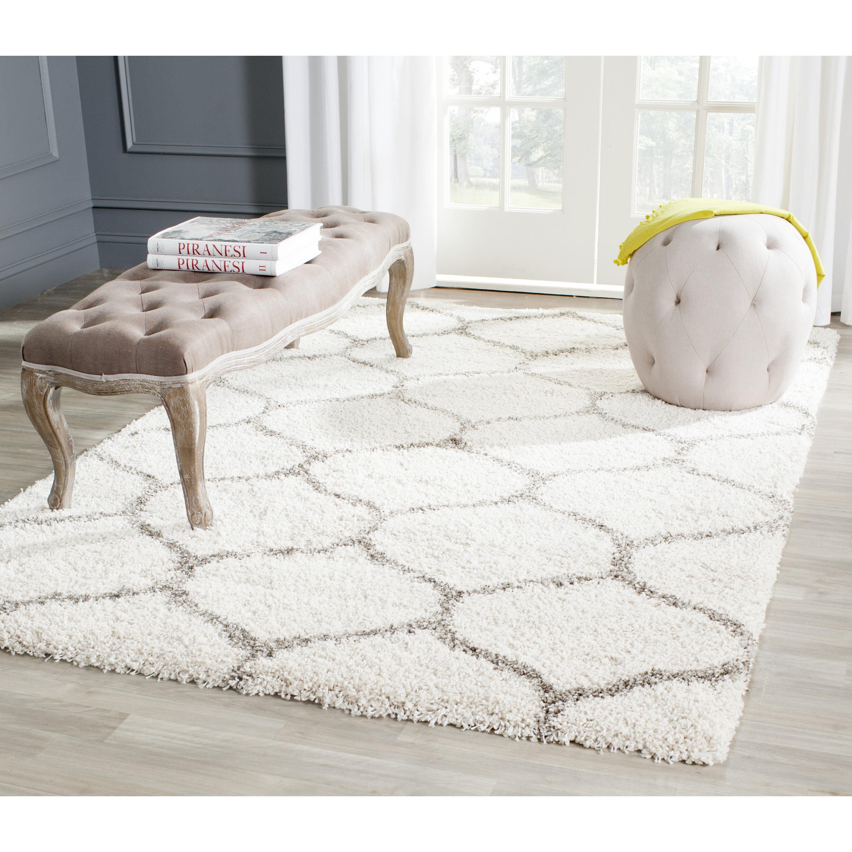 Brayden Studio Hampstead Ivory Shag Area Rug Amp Reviews