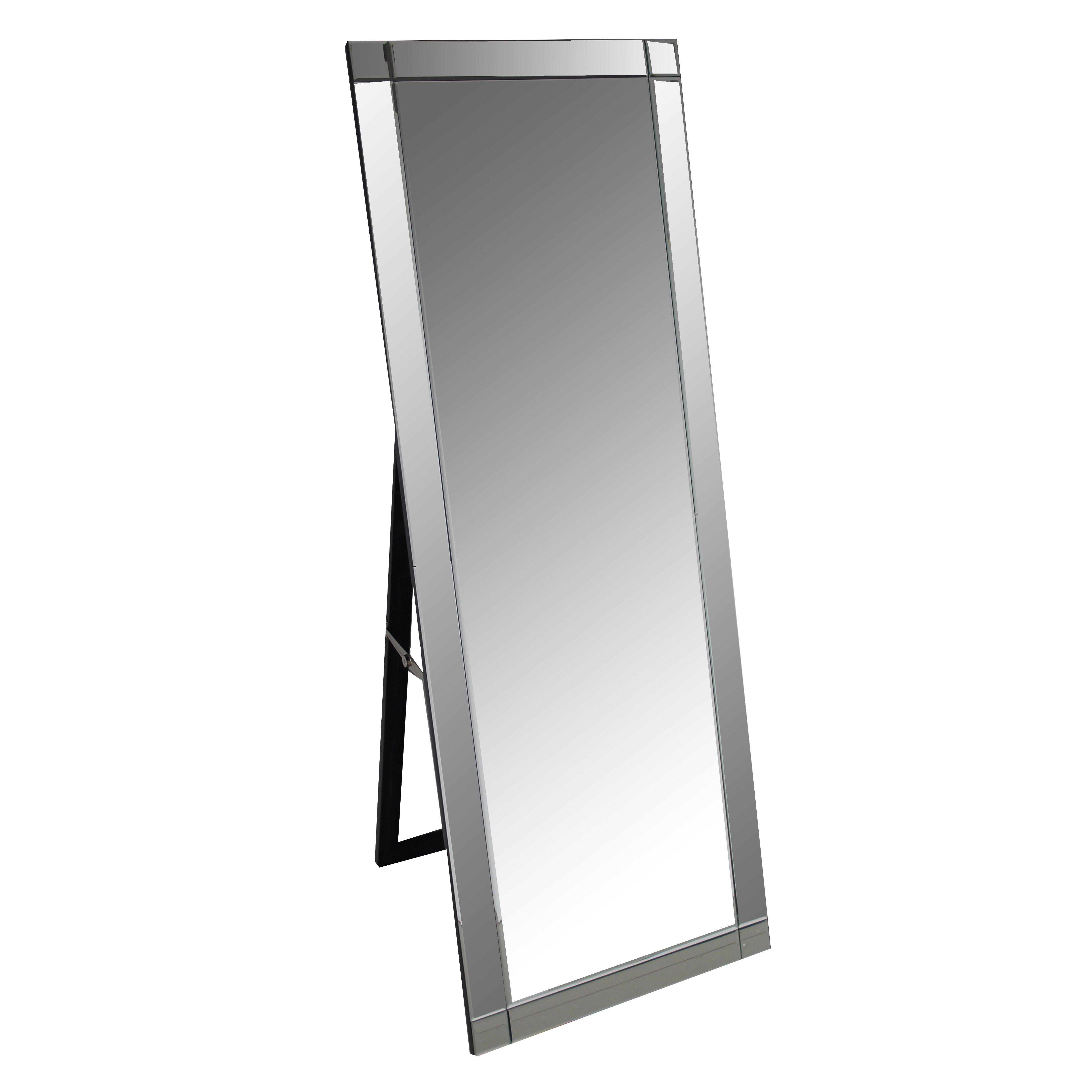 Brayden studio standing floor mirror reviews wayfair for Glass floor mirror