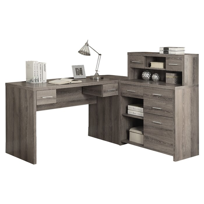 Brayden Studio Edmiston Computer Desk With Hutch Amp Reviews